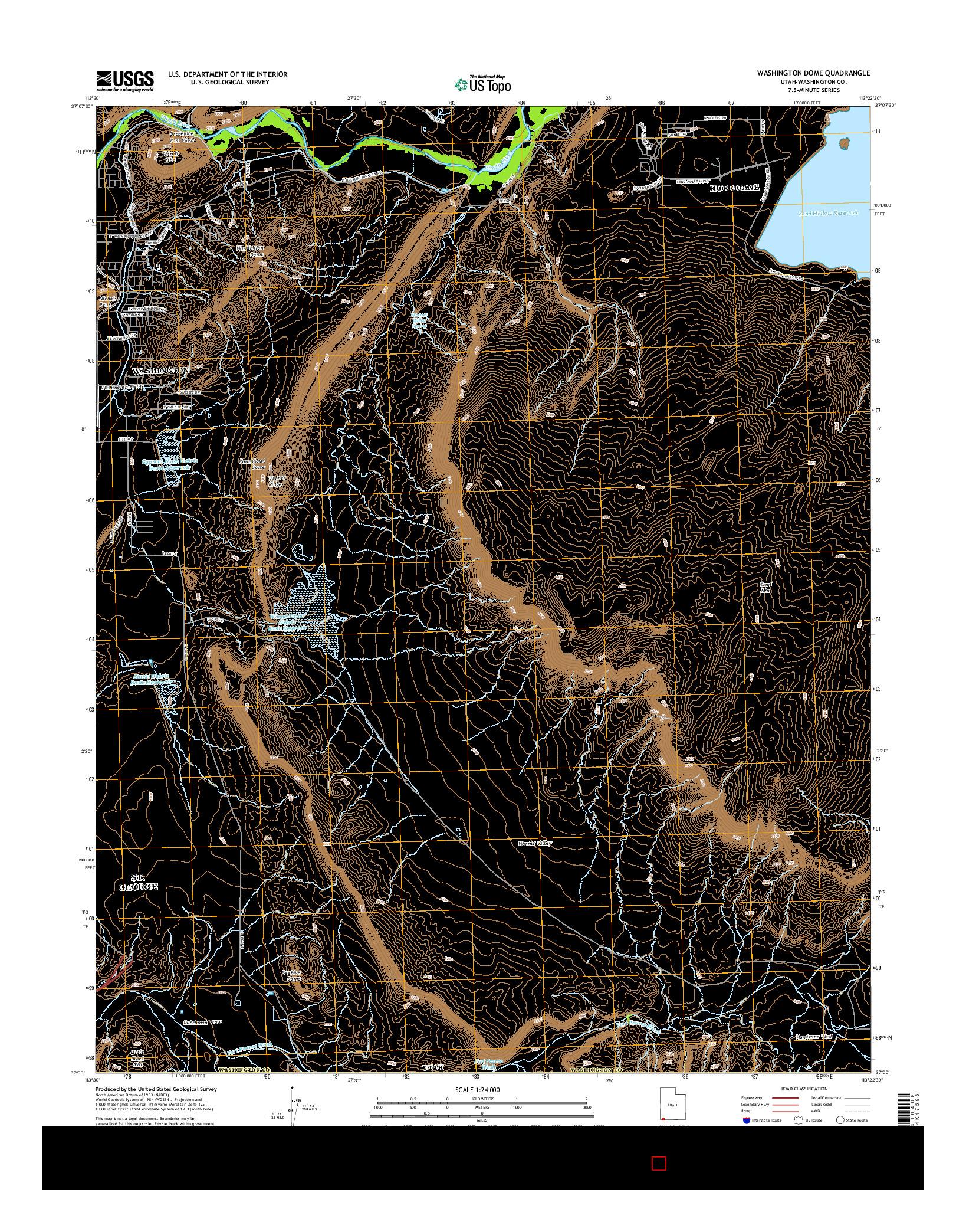 USGS US TOPO 7.5-MINUTE MAP FOR WASHINGTON DOME, UT 2014