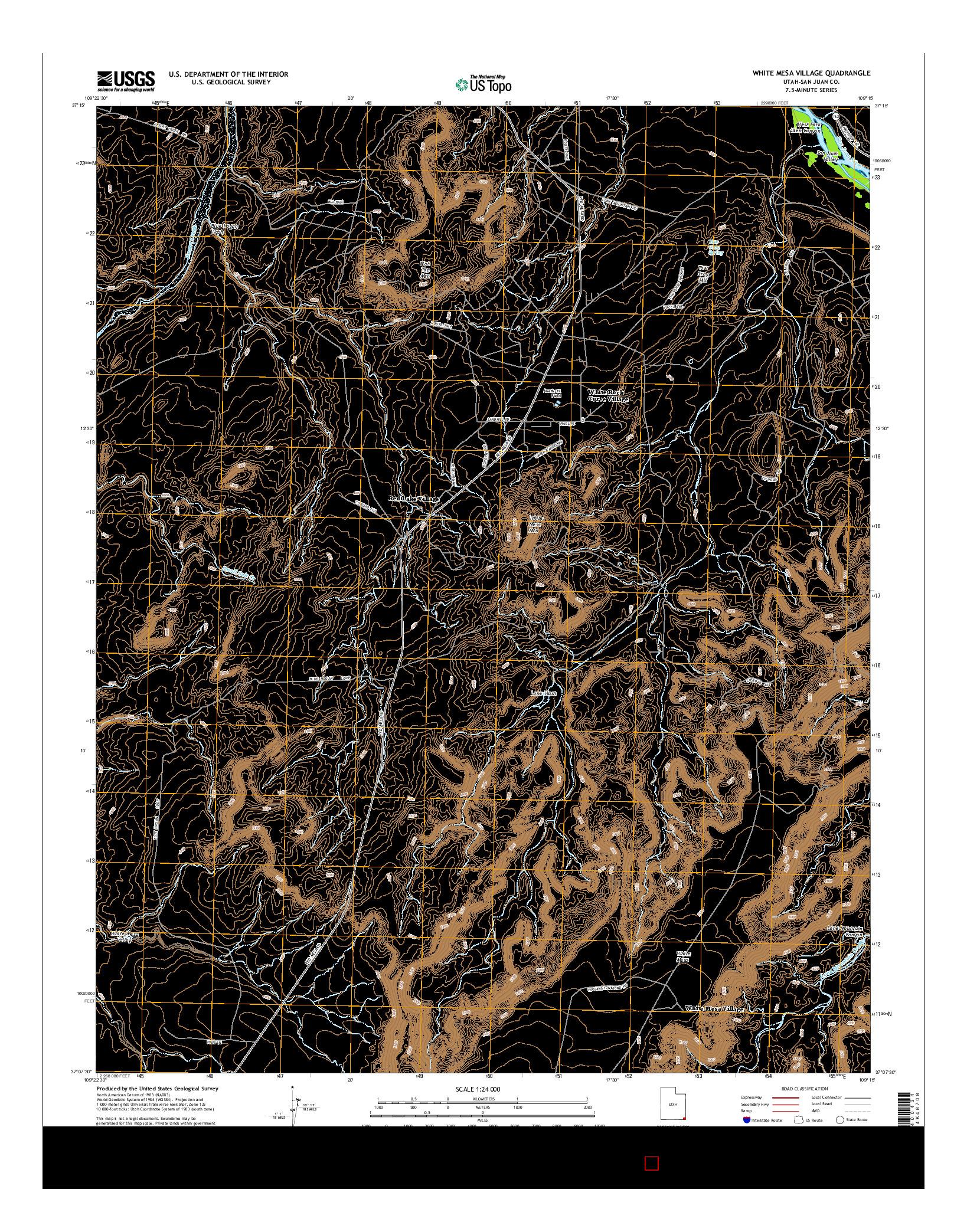 USGS US TOPO 7.5-MINUTE MAP FOR WHITE MESA VILLAGE, UT 2014