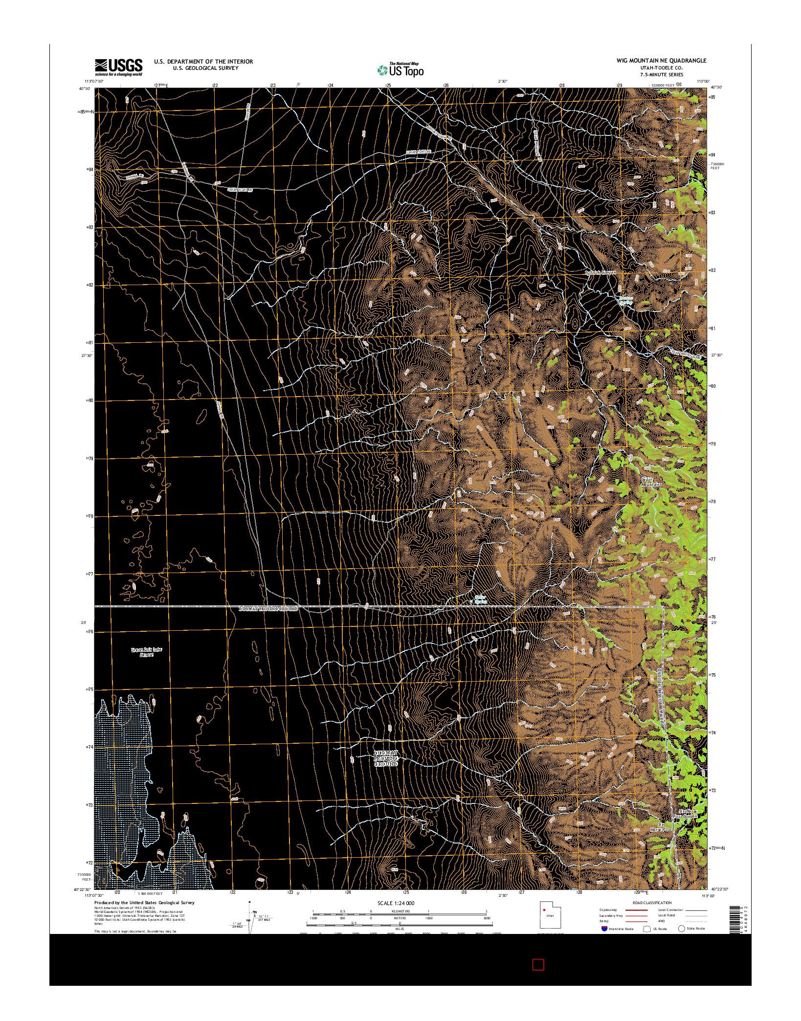USGS US TOPO 7.5-MINUTE MAP FOR WIG MOUNTAIN NE, UT 2014