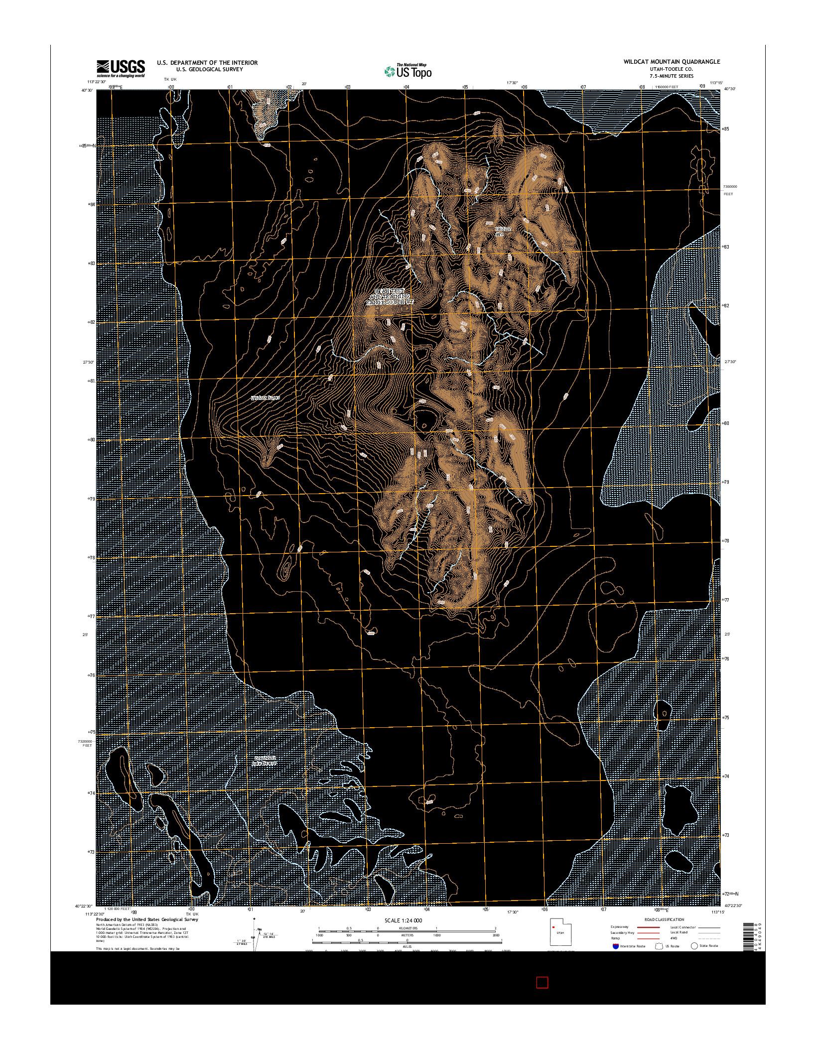 USGS US TOPO 7.5-MINUTE MAP FOR WILDCAT MOUNTAIN, UT 2014