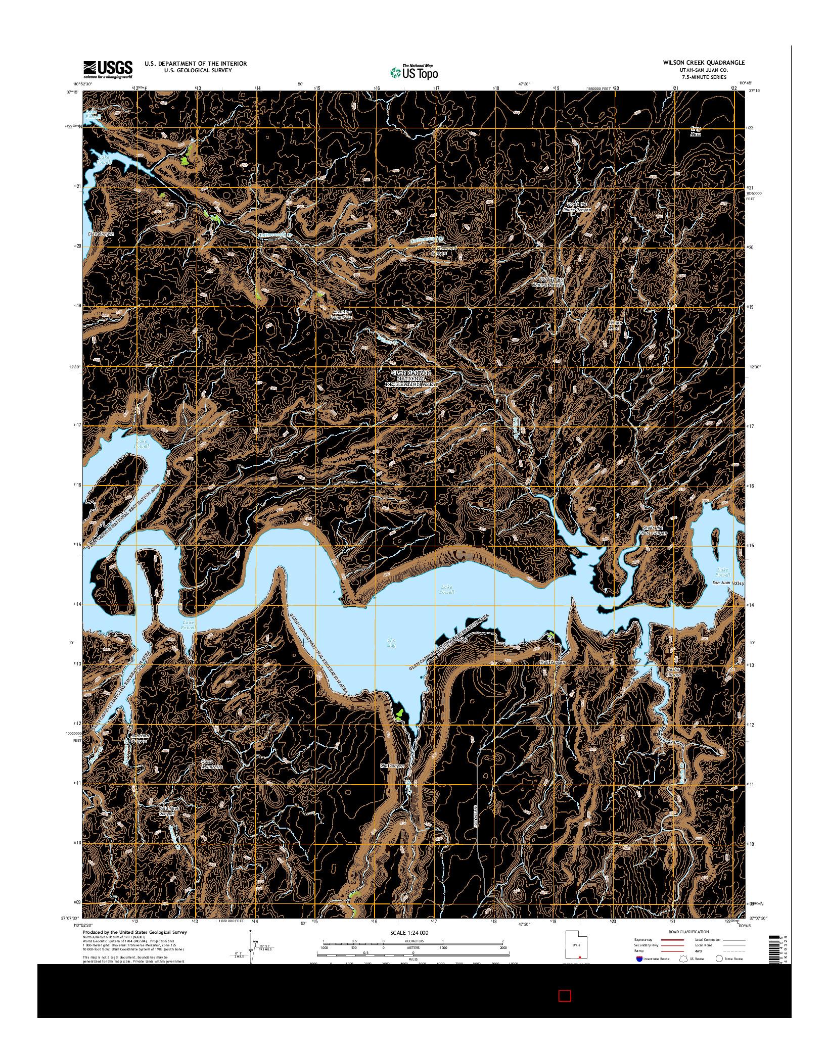 USGS US TOPO 7.5-MINUTE MAP FOR WILSON CREEK, UT 2014