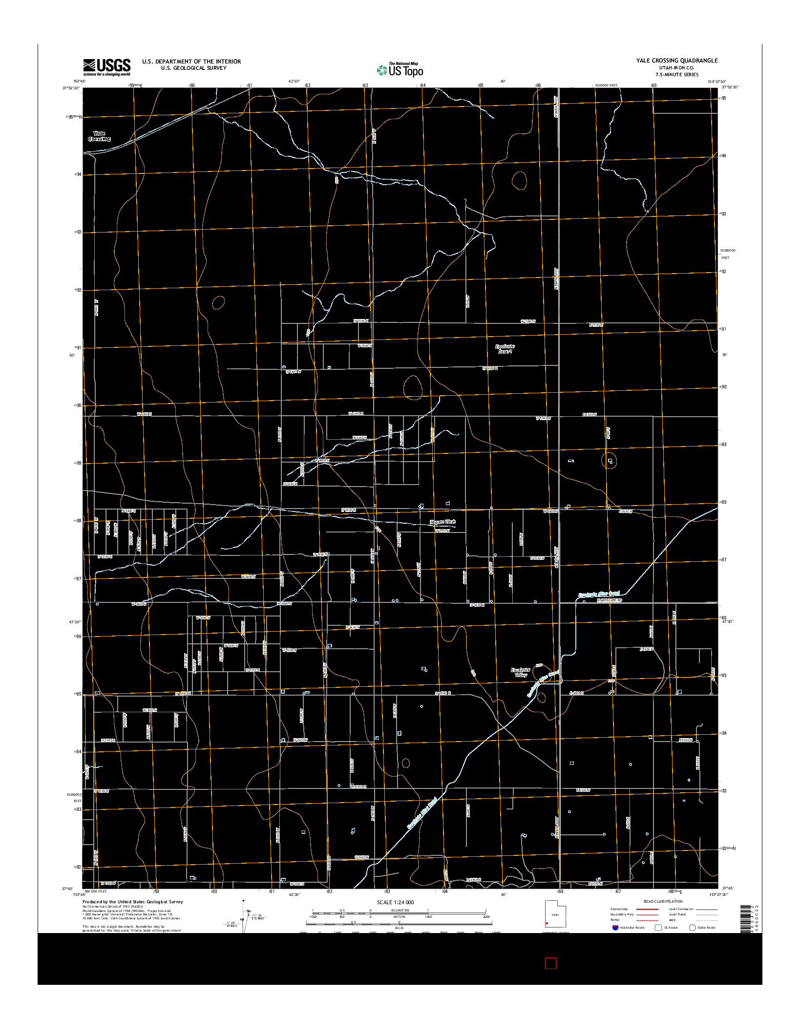 USGS US TOPO 7.5-MINUTE MAP FOR YALE CROSSING, UT 2014