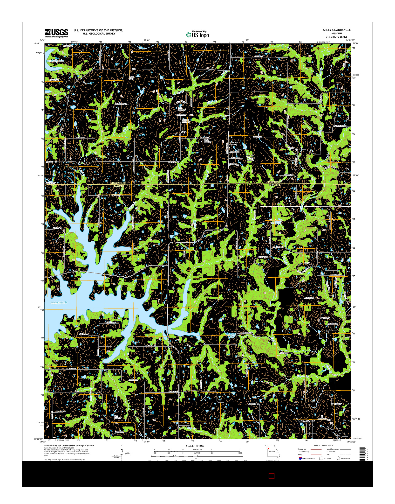 USGS US TOPO 7.5-MINUTE MAP FOR ARLEY, MO 2015