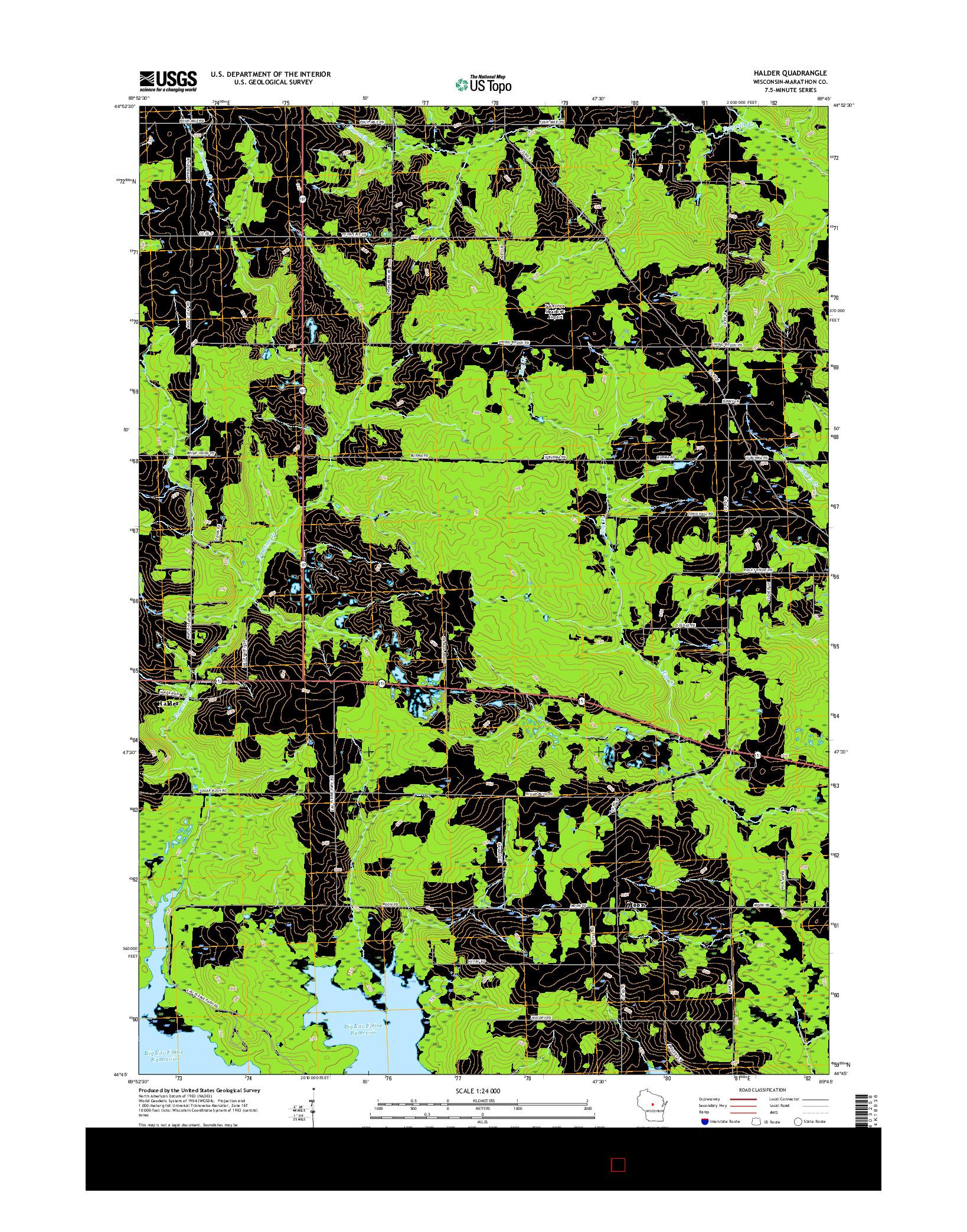 USGS US TOPO 7.5-MINUTE MAP FOR HALDER, WI 2015