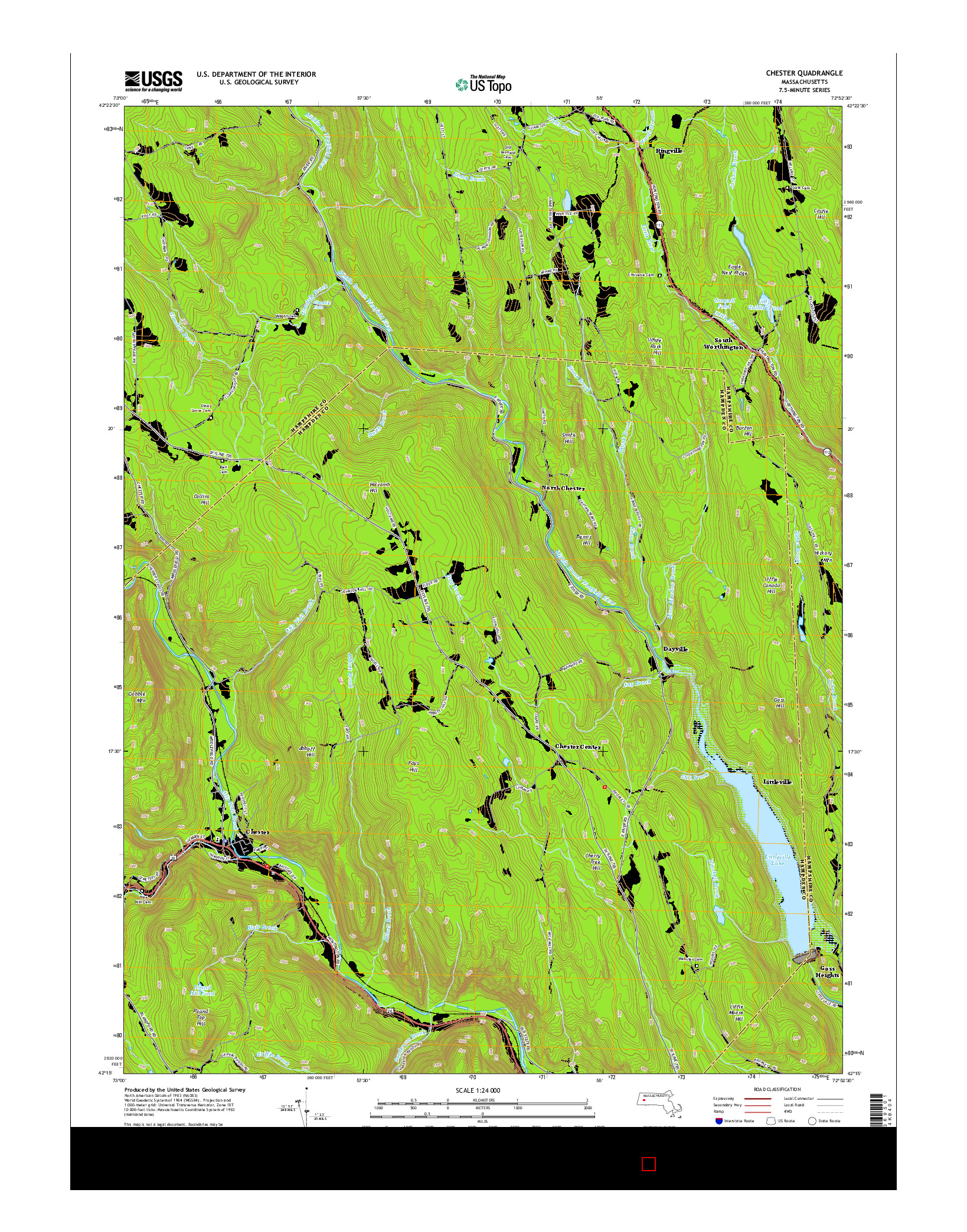 USGS US TOPO 7.5-MINUTE MAP FOR CHESTER, MA 2015