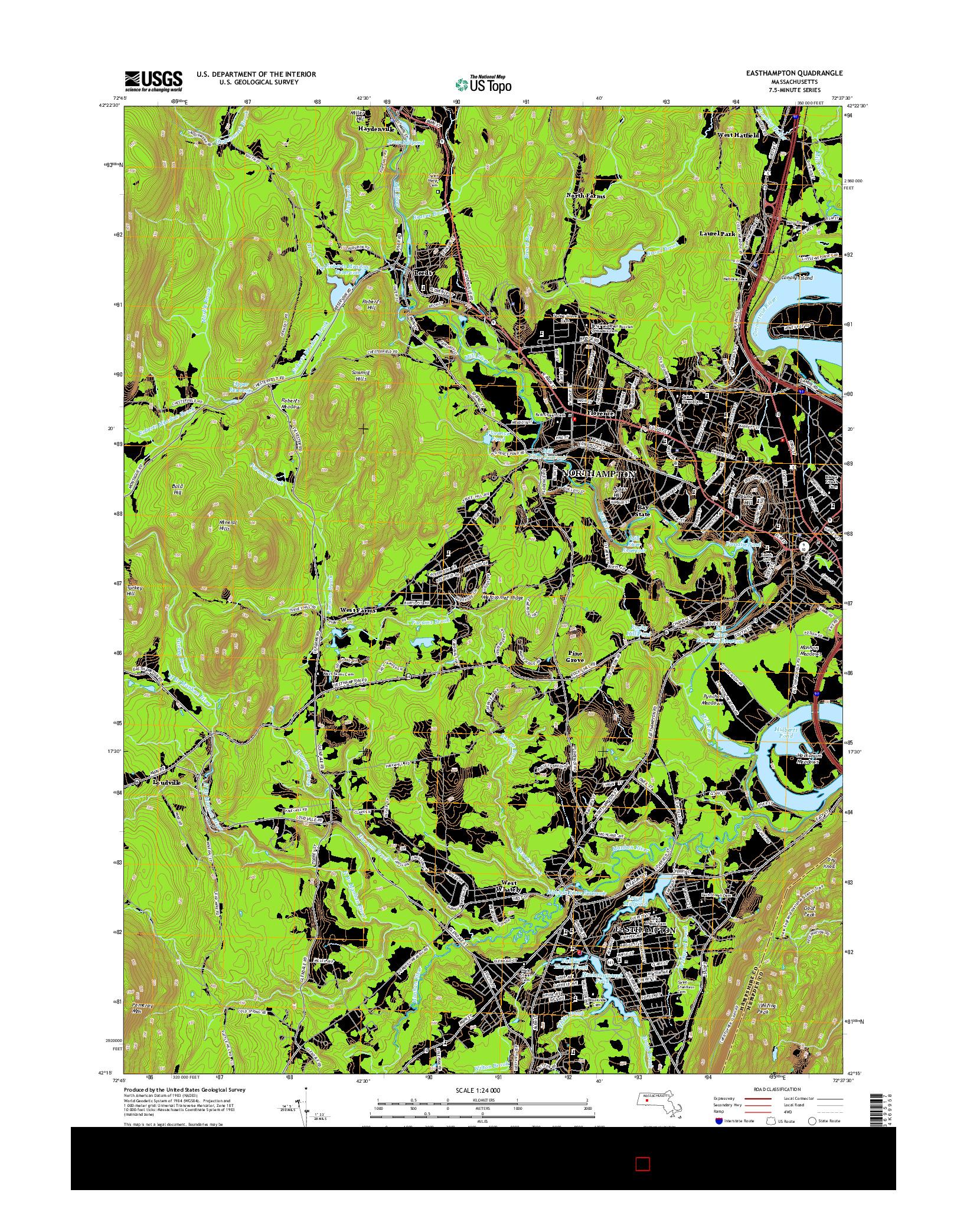 USGS US TOPO 7.5-MINUTE MAP FOR EASTHAMPTON, MA 2015