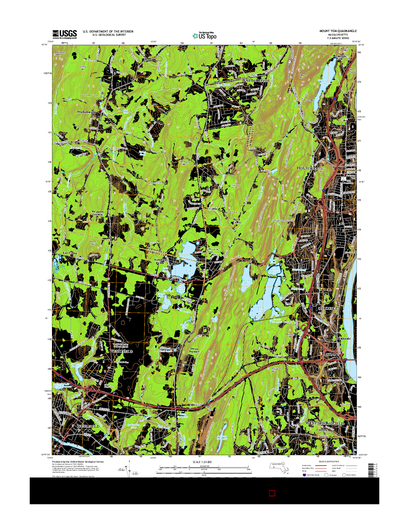 USGS US TOPO 7.5-MINUTE MAP FOR MOUNT TOM, MA 2015