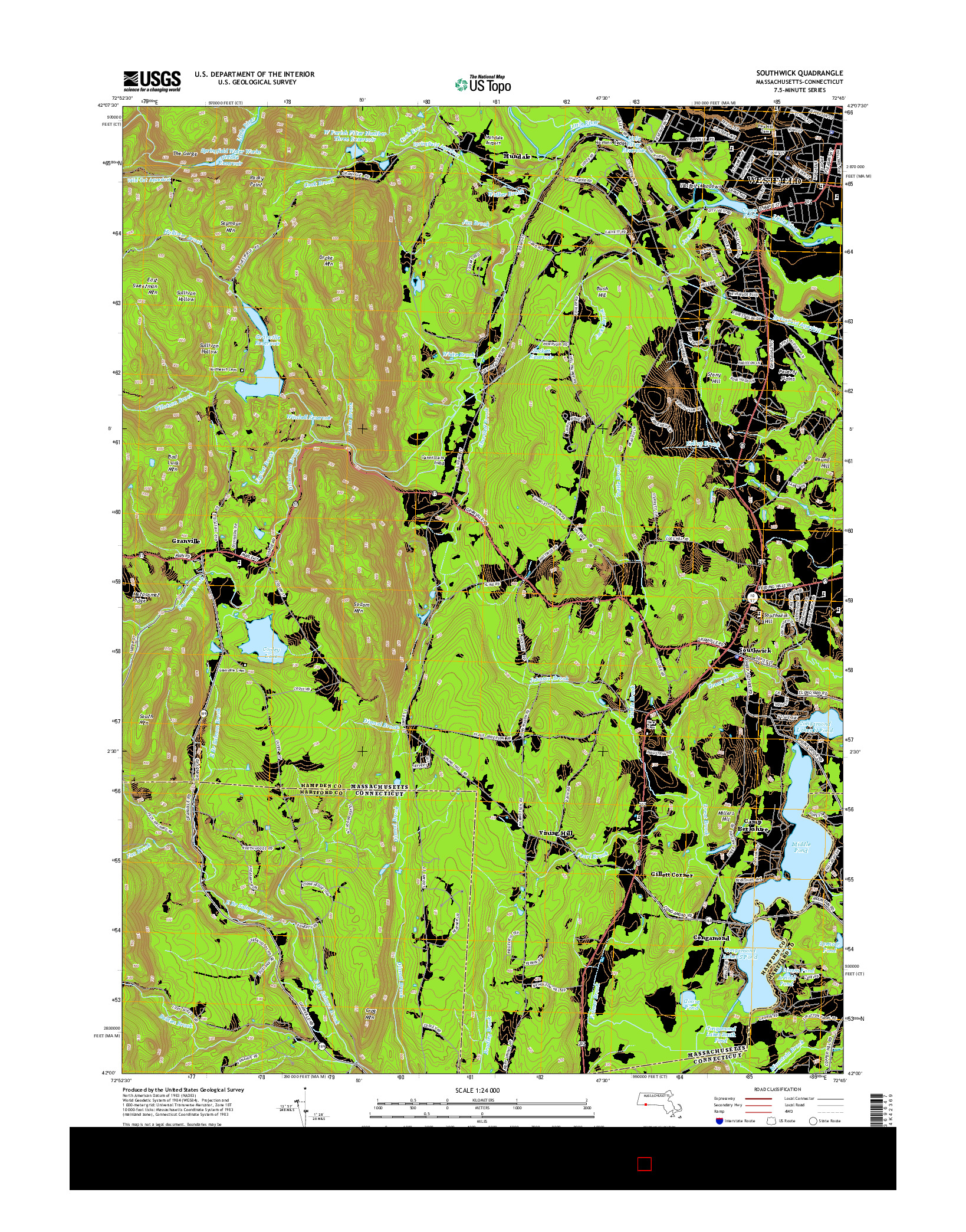 USGS US TOPO 7.5-MINUTE MAP FOR SOUTHWICK, MA-CT 2015