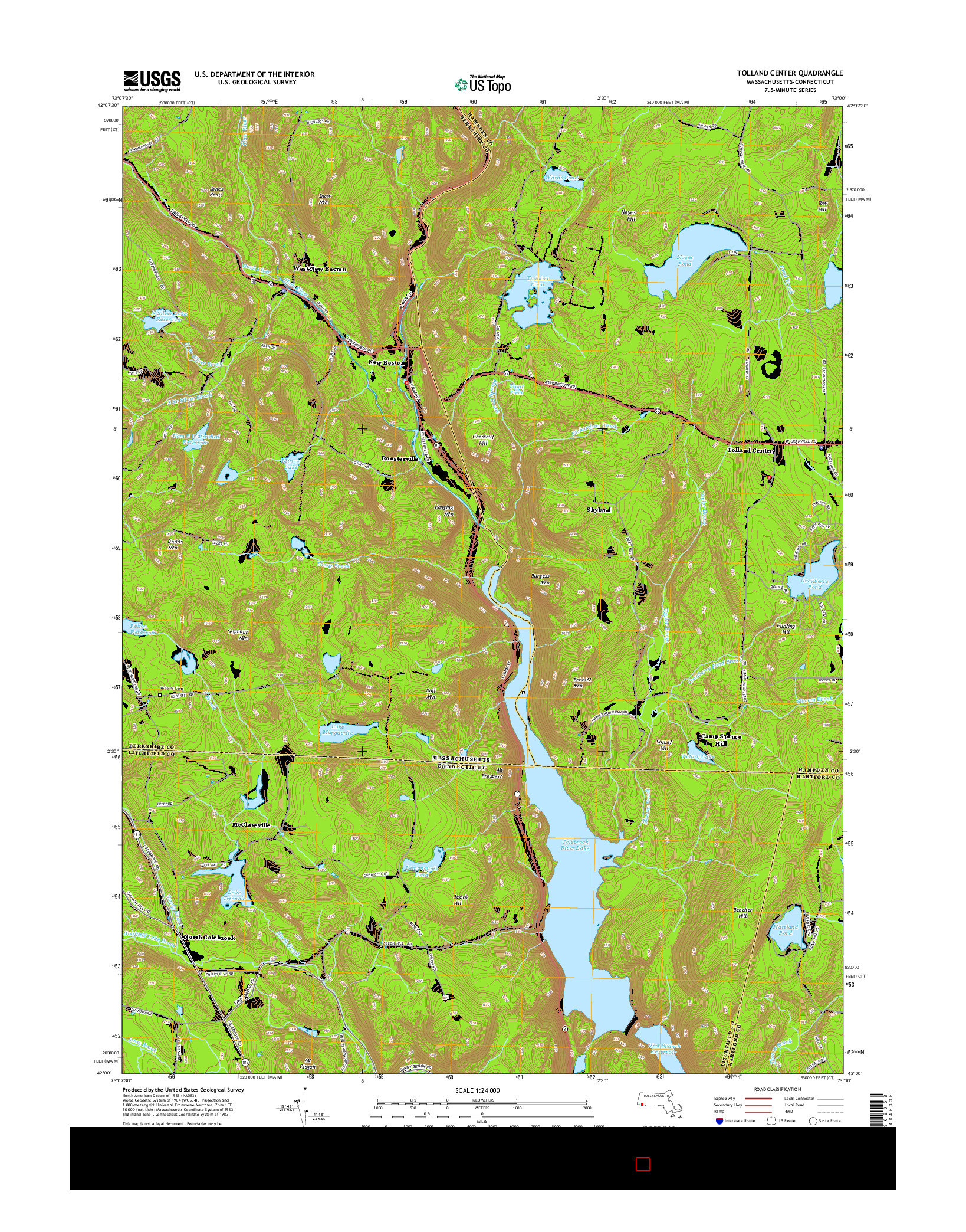 USGS US TOPO 7.5-MINUTE MAP FOR TOLLAND CENTER, MA-CT 2015