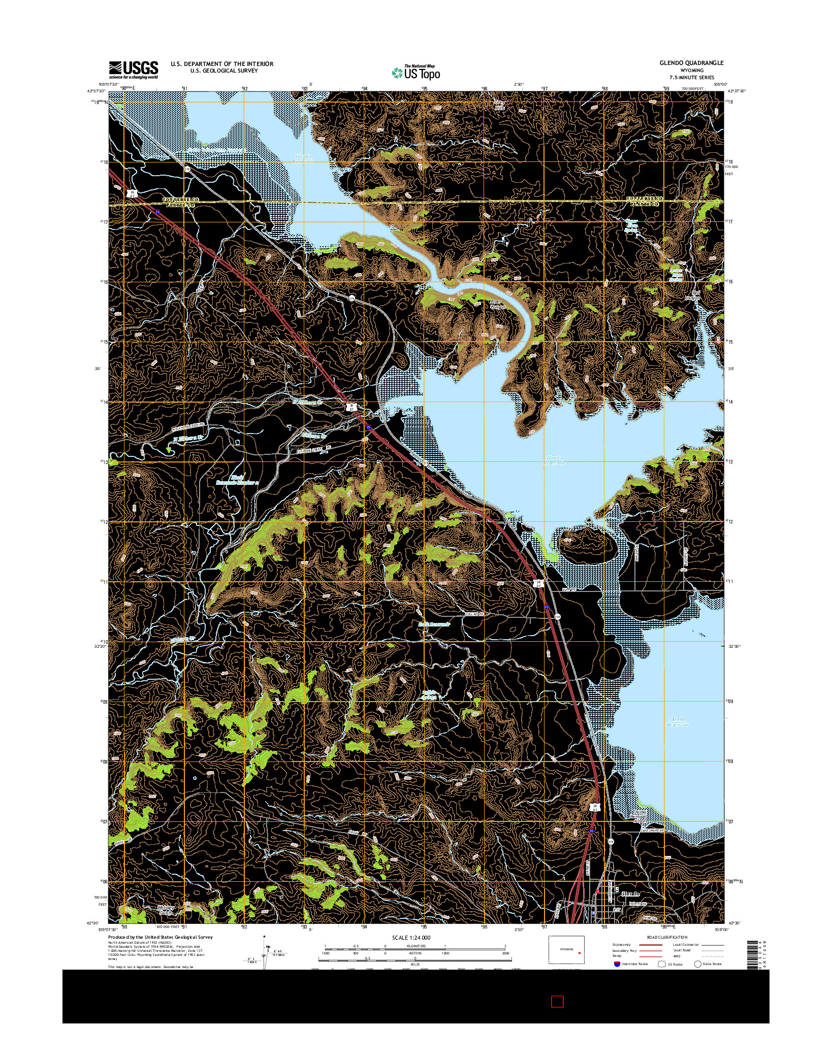 USGS US TOPO 7.5-MINUTE MAP FOR GLENDO, WY 2015