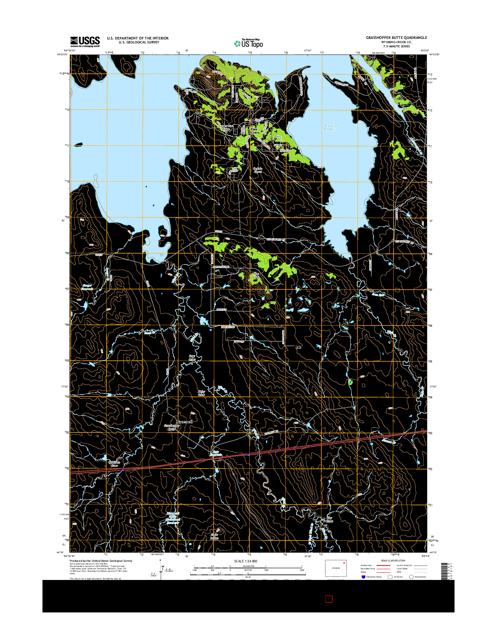 USGS US TOPO 7.5-MINUTE MAP FOR GRASSHOPPER BUTTE, WY 2015