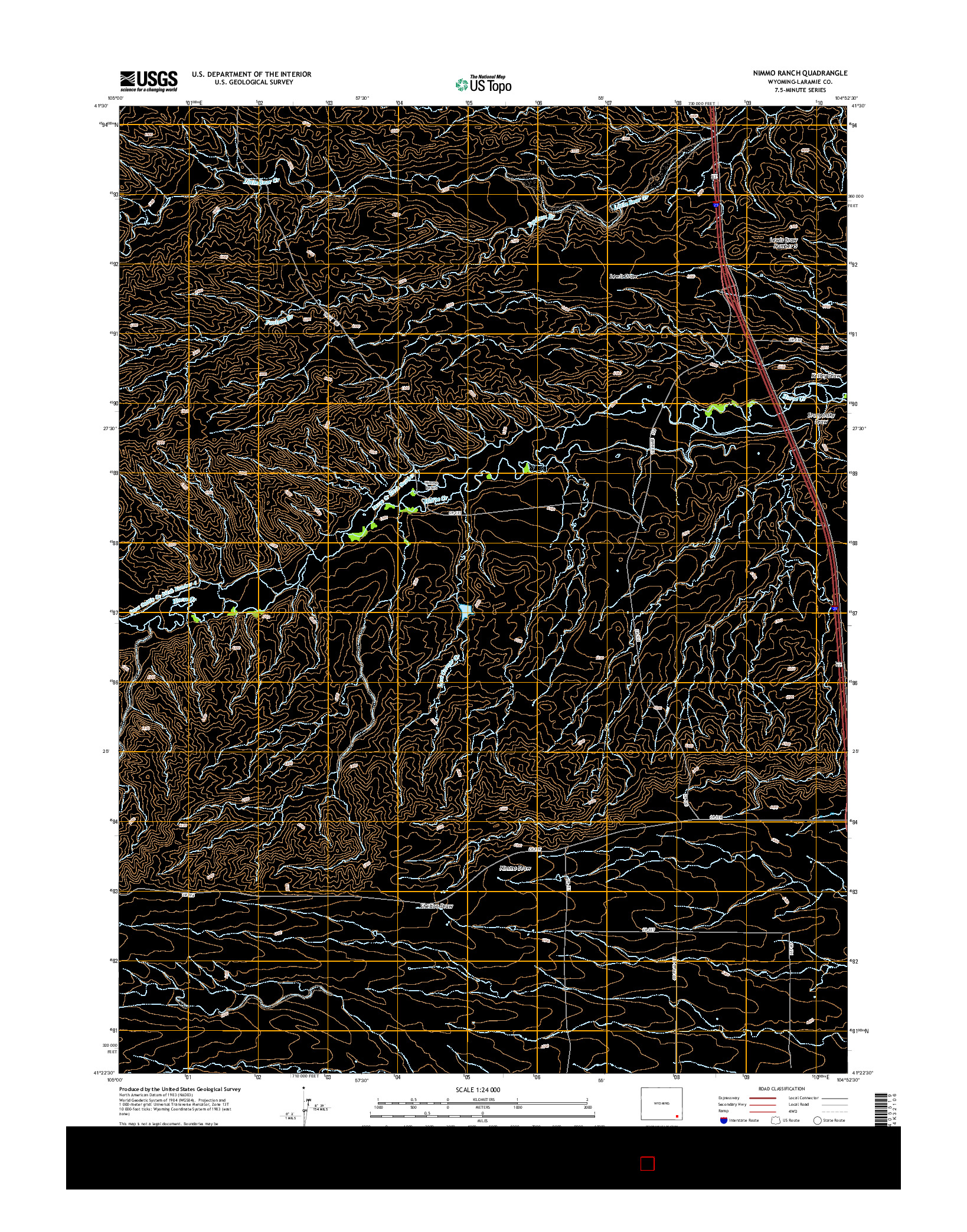 USGS US TOPO 7.5-MINUTE MAP FOR NIMMO RANCH, WY 2015