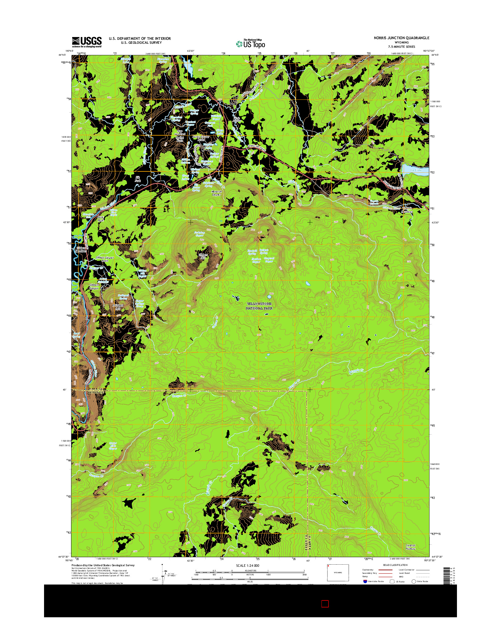 USGS US TOPO 7.5-MINUTE MAP FOR NORRIS JUNCTION, WY 2015