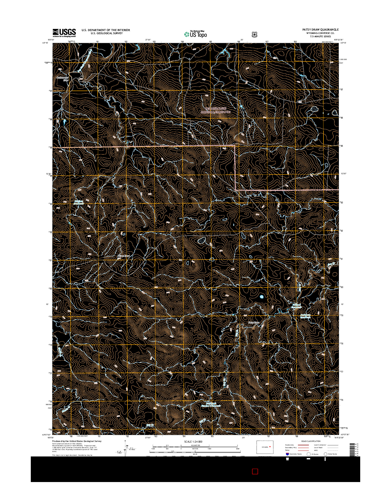 USGS US TOPO 7.5-MINUTE MAP FOR PATSY DRAW, WY 2015