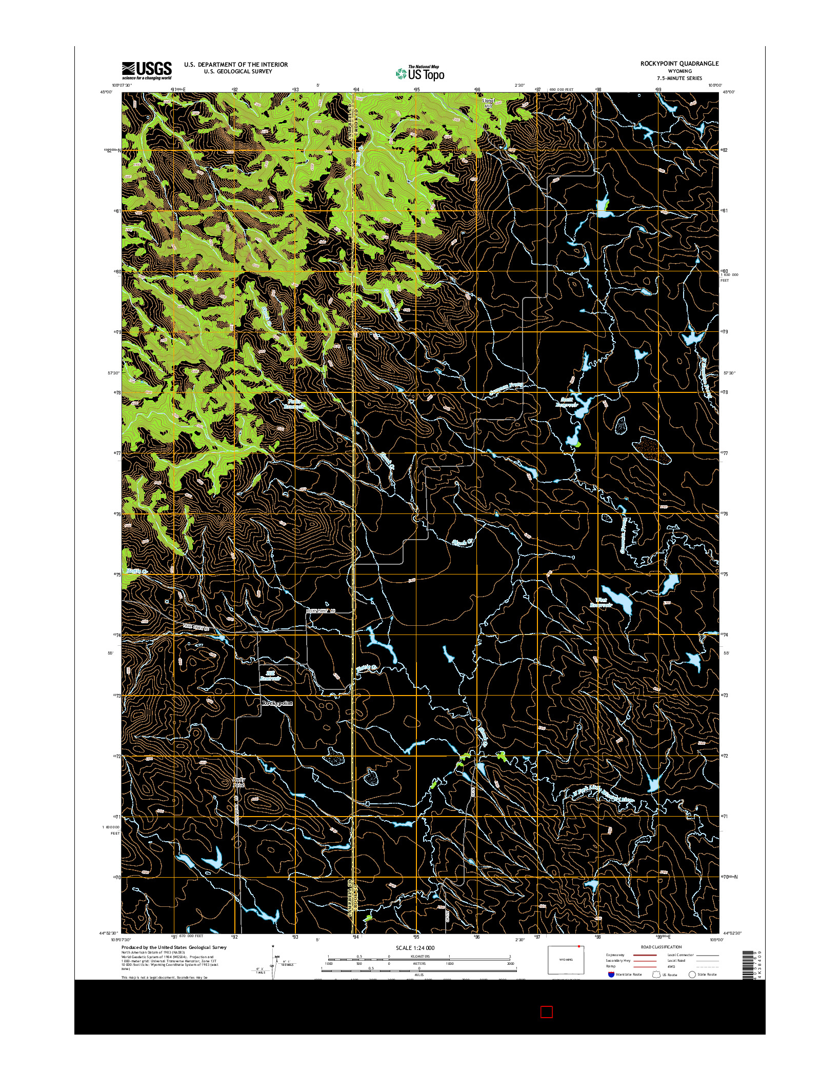 USGS US TOPO 7.5-MINUTE MAP FOR ROCKYPOINT, WY 2015