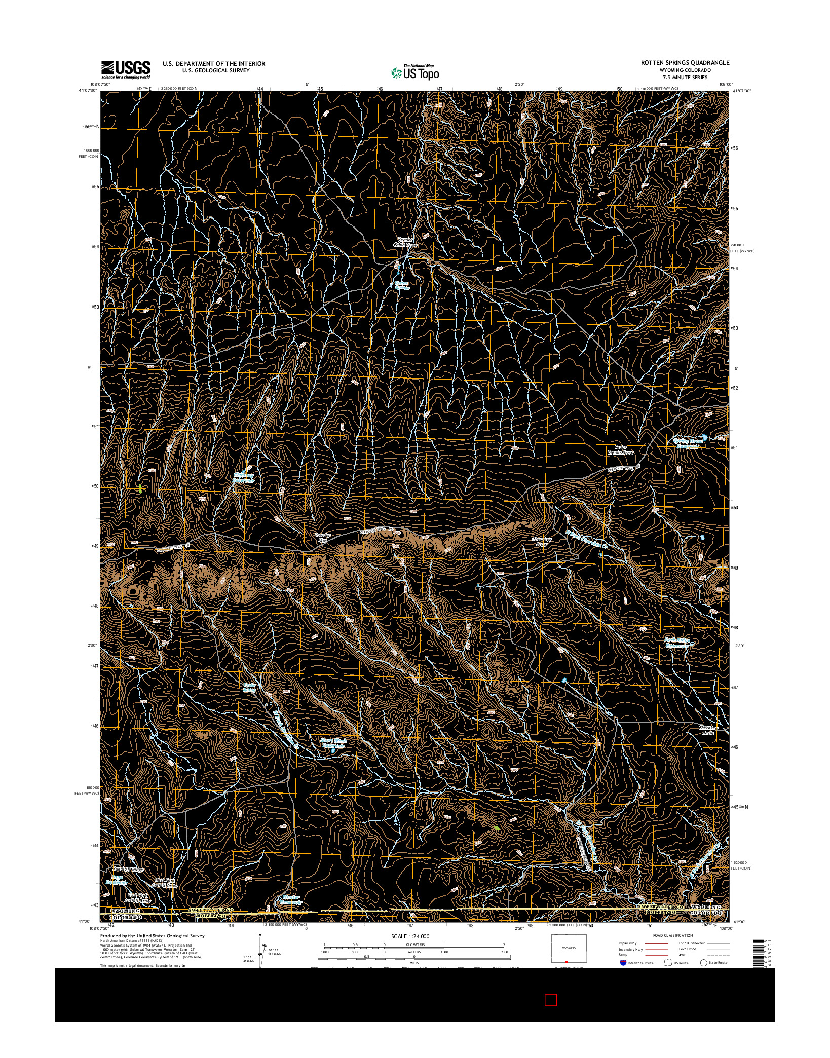 USGS US TOPO 7.5-MINUTE MAP FOR ROTTEN SPRINGS, WY-CO 2015