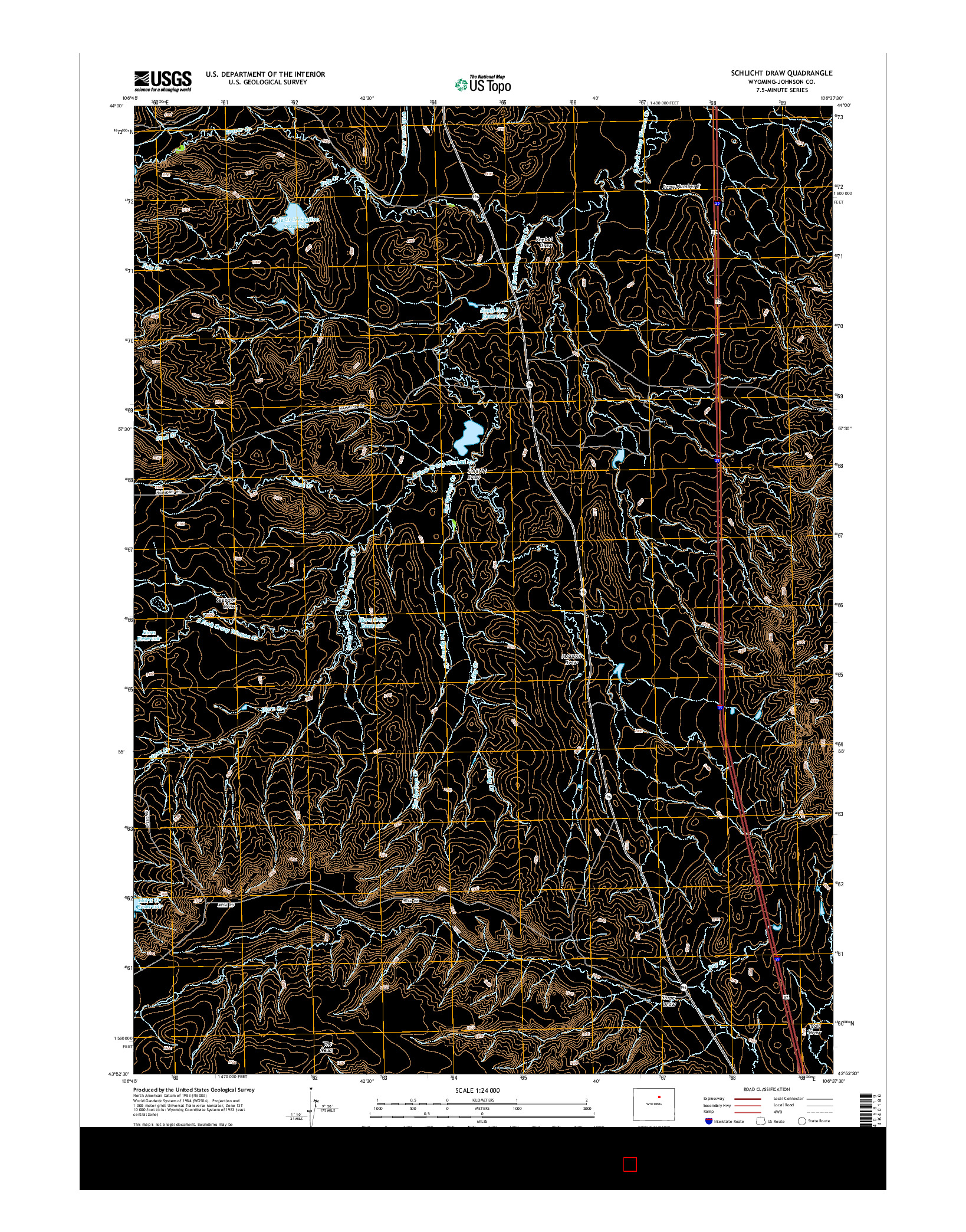 USGS US TOPO 7.5-MINUTE MAP FOR SCHLICHT DRAW, WY 2015
