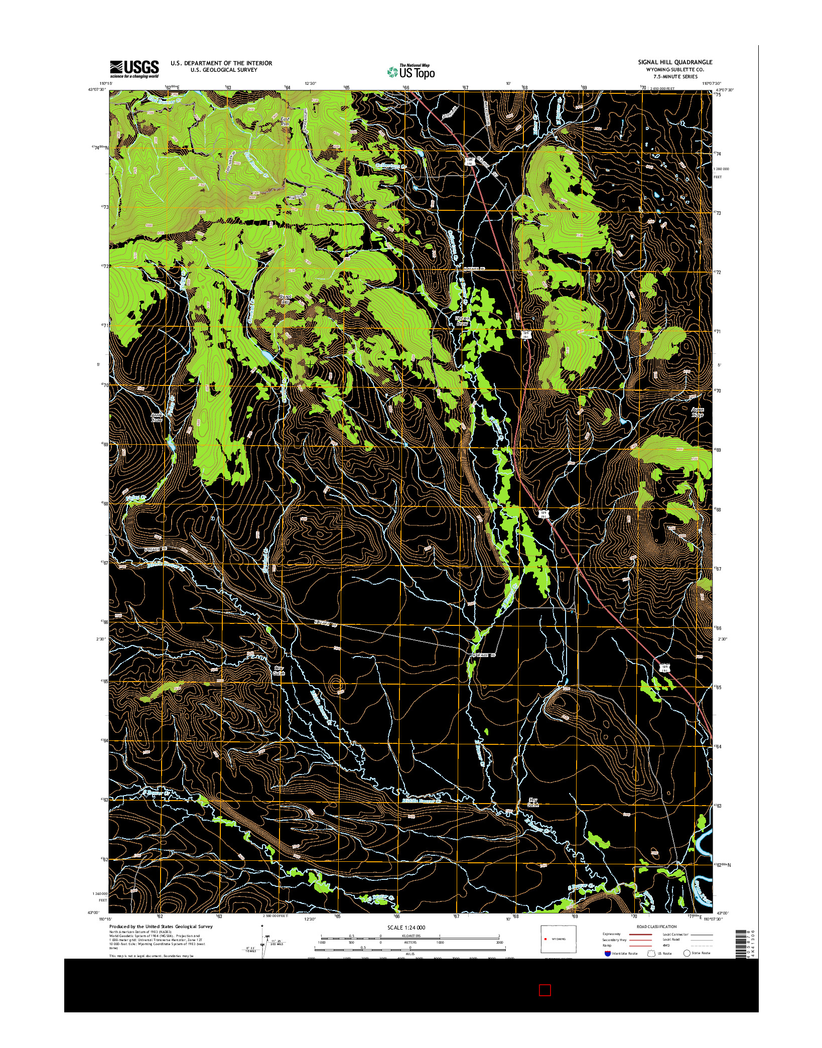 USGS US TOPO 7.5-MINUTE MAP FOR SIGNAL HILL, WY 2015
