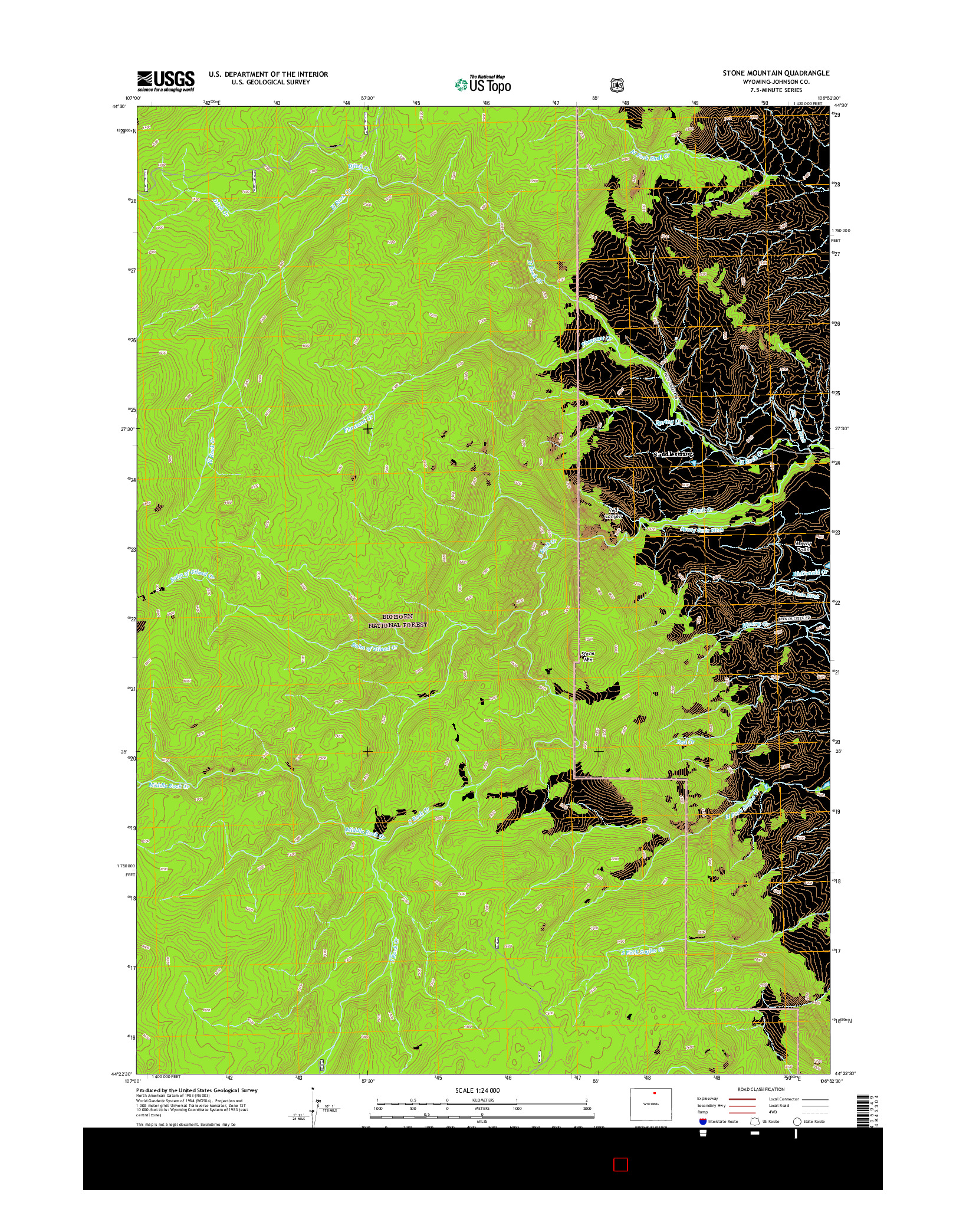 USGS US TOPO 7.5-MINUTE MAP FOR STONE MOUNTAIN, WY 2015