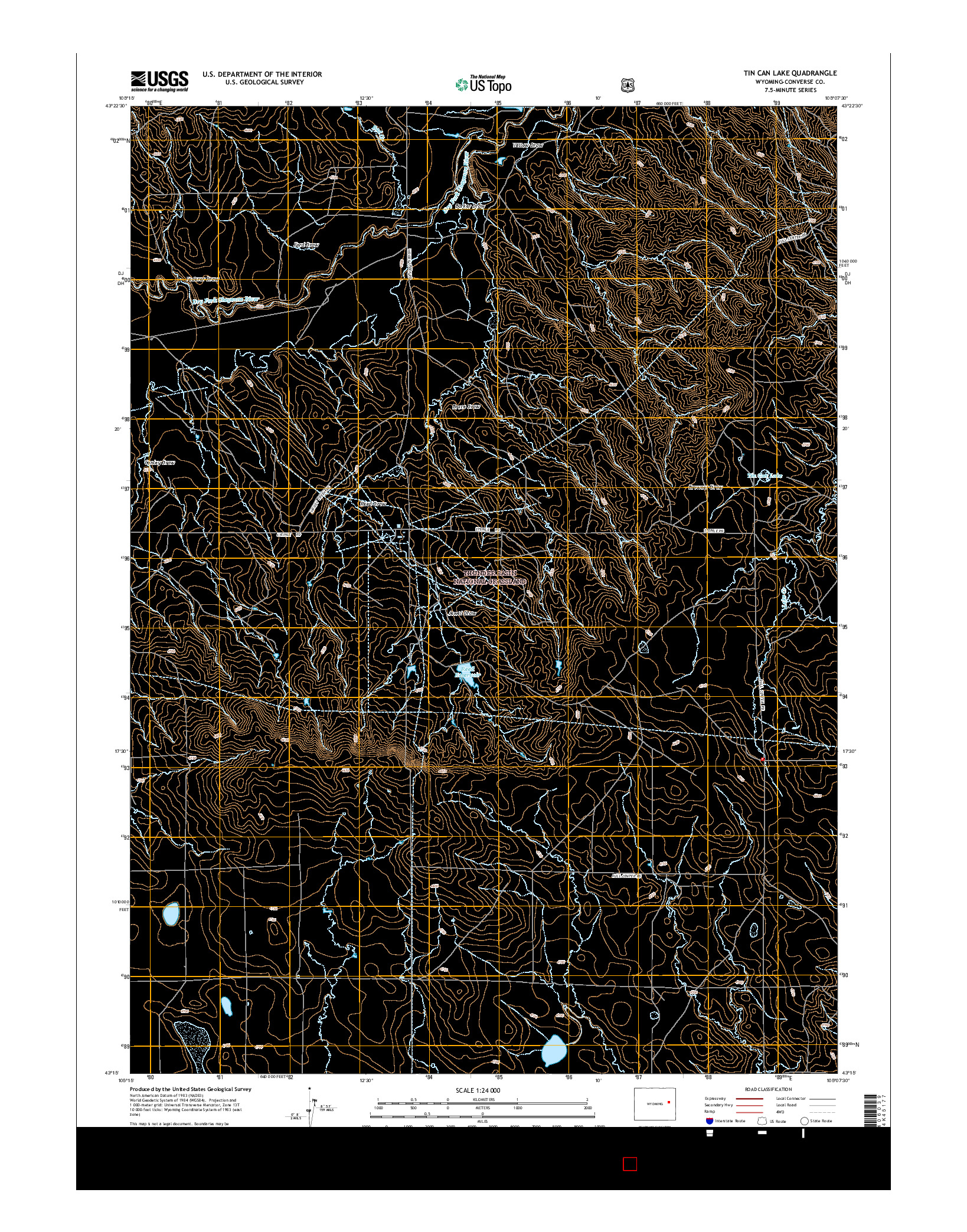USGS US TOPO 7.5-MINUTE MAP FOR TIN CAN LAKE, WY 2015