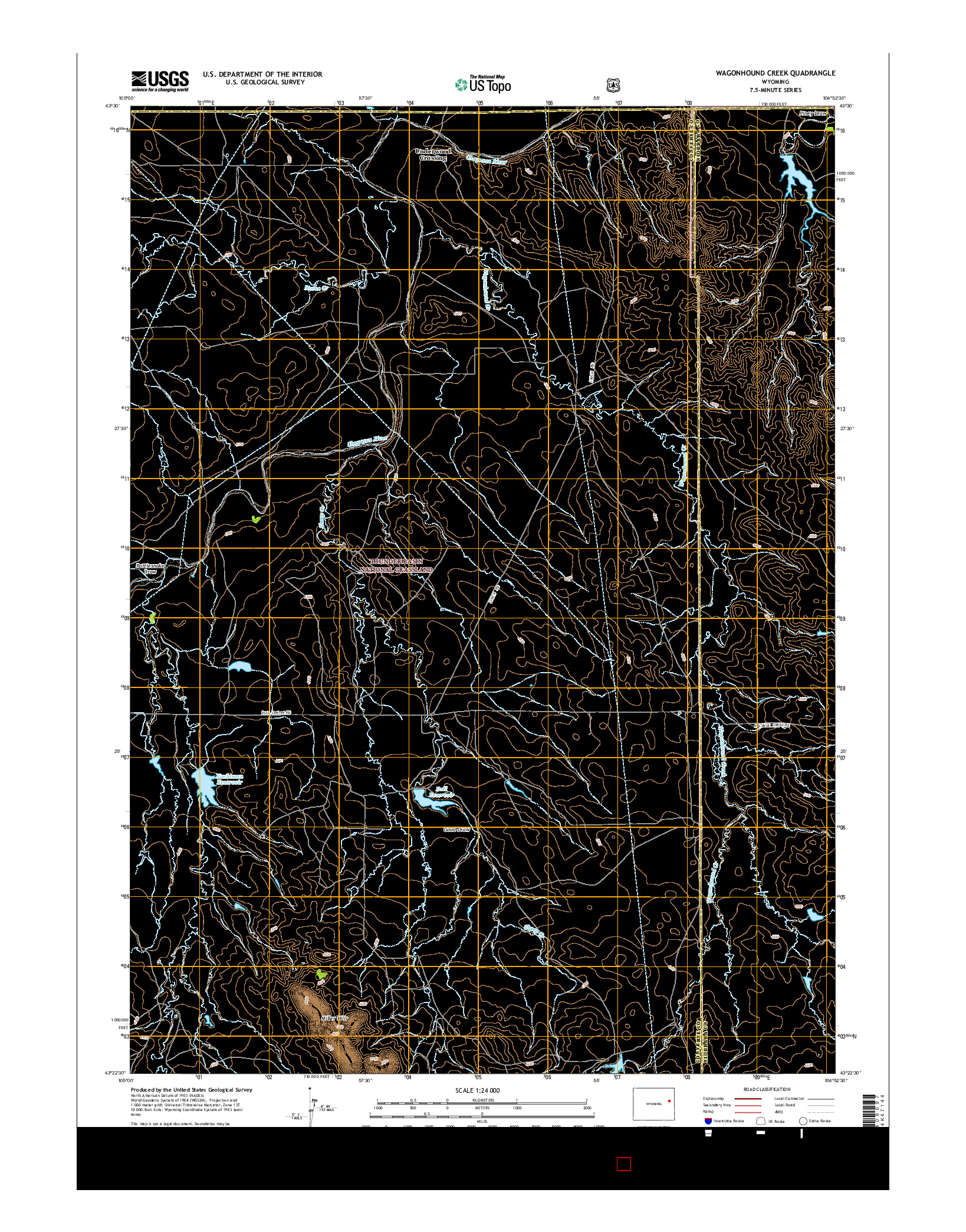 USGS US TOPO 7.5-MINUTE MAP FOR WAGONHOUND CREEK, WY 2015