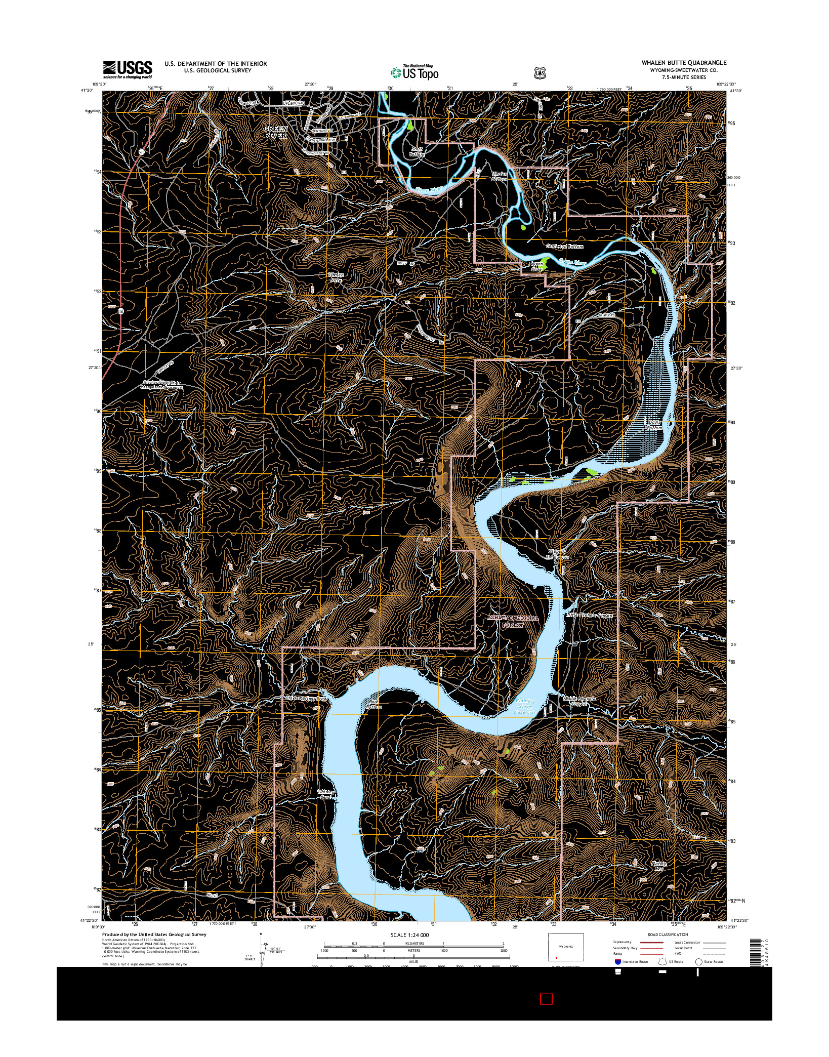 USGS US TOPO 7.5-MINUTE MAP FOR WHALEN BUTTE, WY 2015