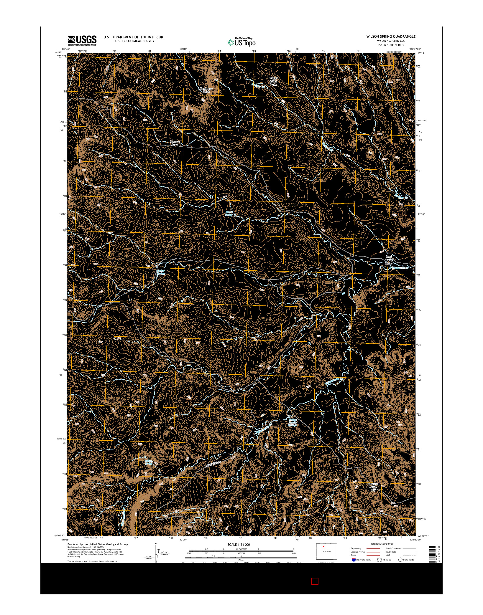 USGS US TOPO 7.5-MINUTE MAP FOR WILSON SPRING, WY 2015