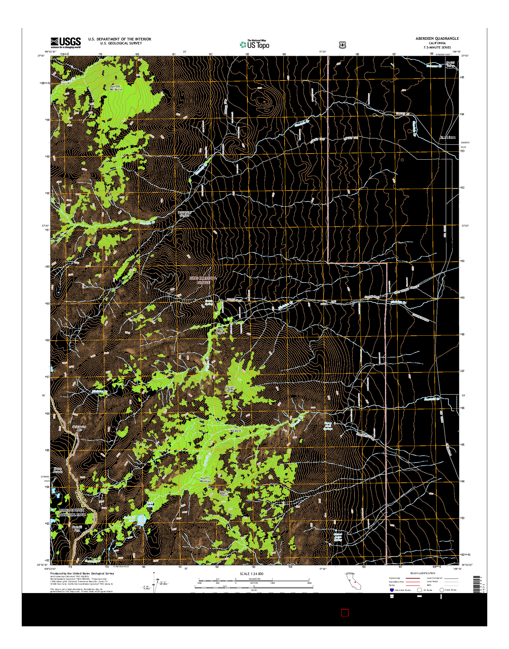 USGS US TOPO 7.5-MINUTE MAP FOR ABERDEEN, CA 2015