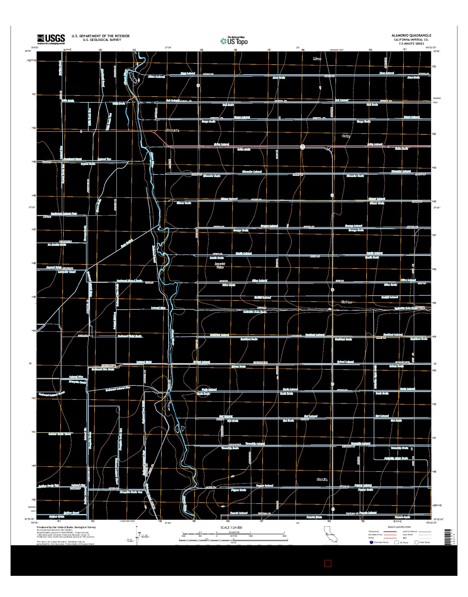 USGS US TOPO 7.5-MINUTE MAP FOR ALAMORIO, CA 2015