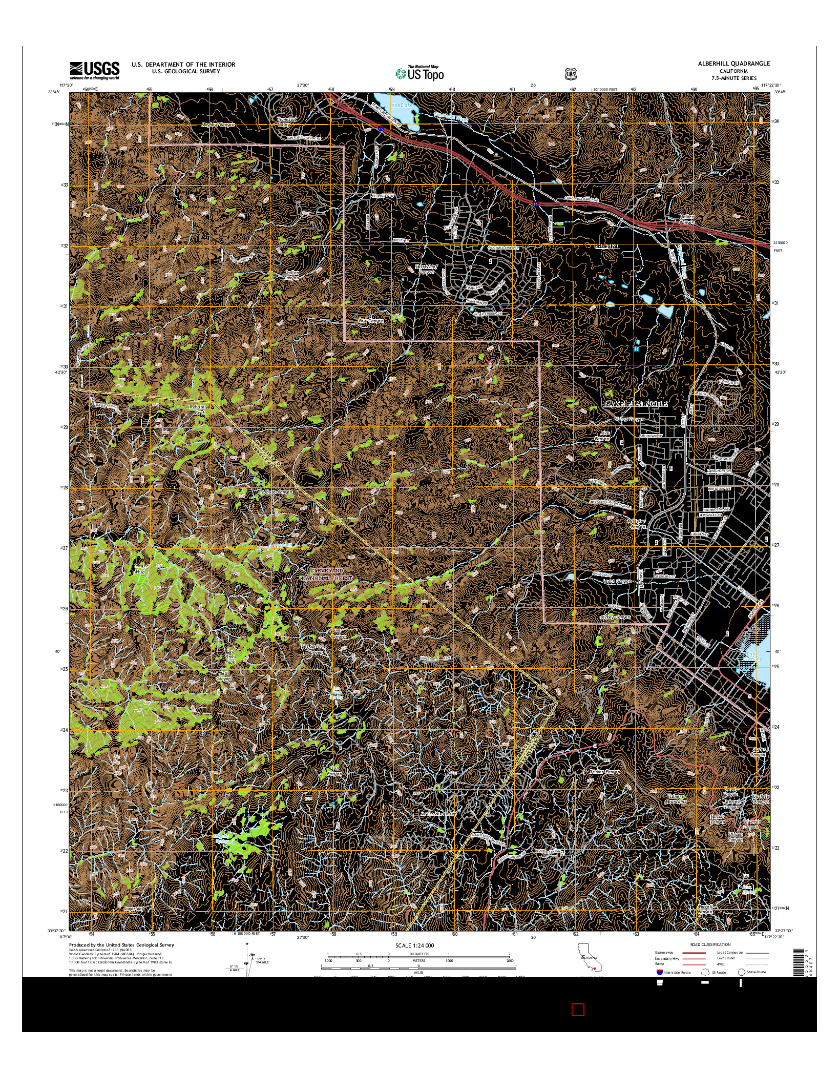 USGS US TOPO 7.5-MINUTE MAP FOR ALBERHILL, CA 2015