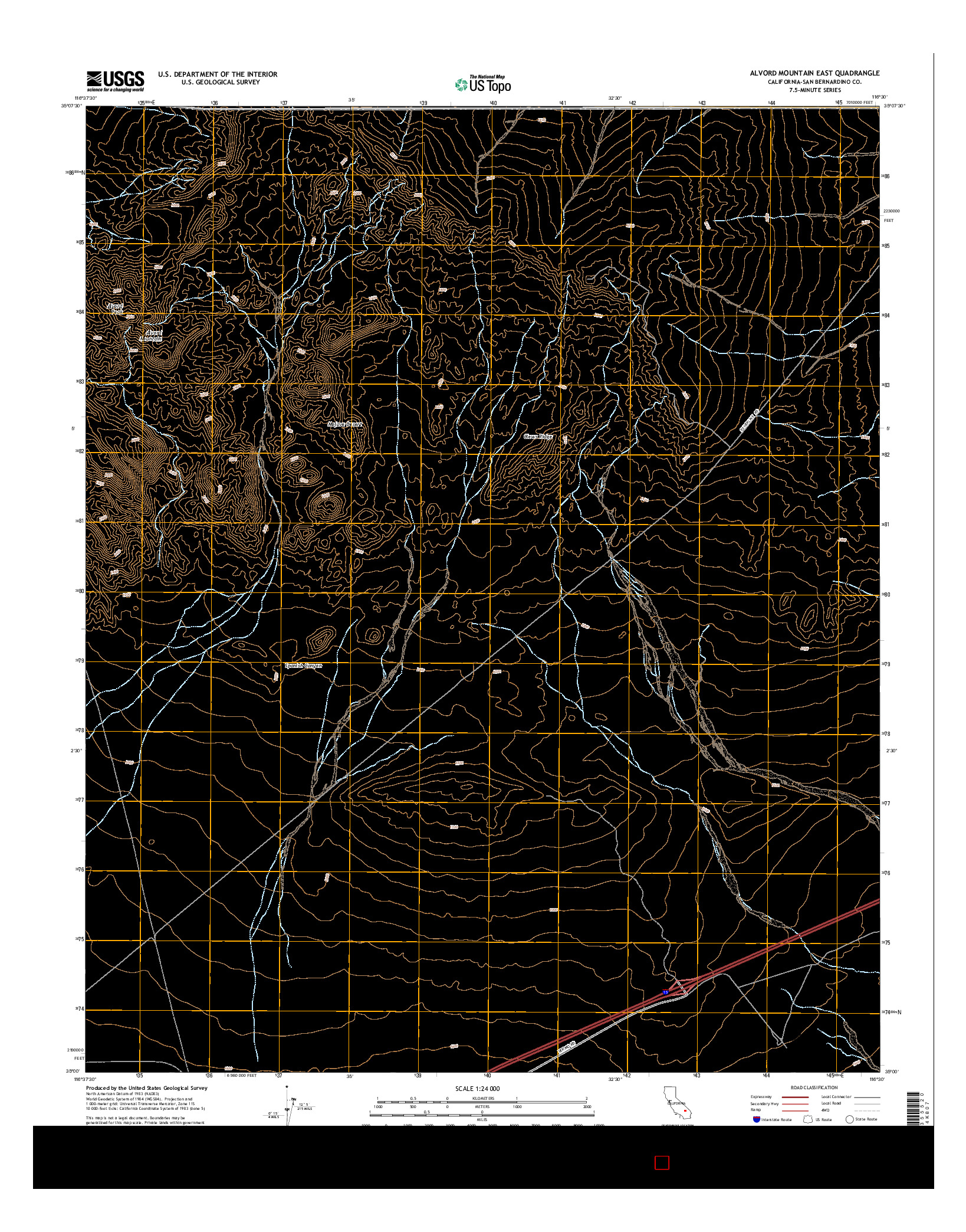 USGS US TOPO 7.5-MINUTE MAP FOR ALVORD MOUNTAIN EAST, CA 2015