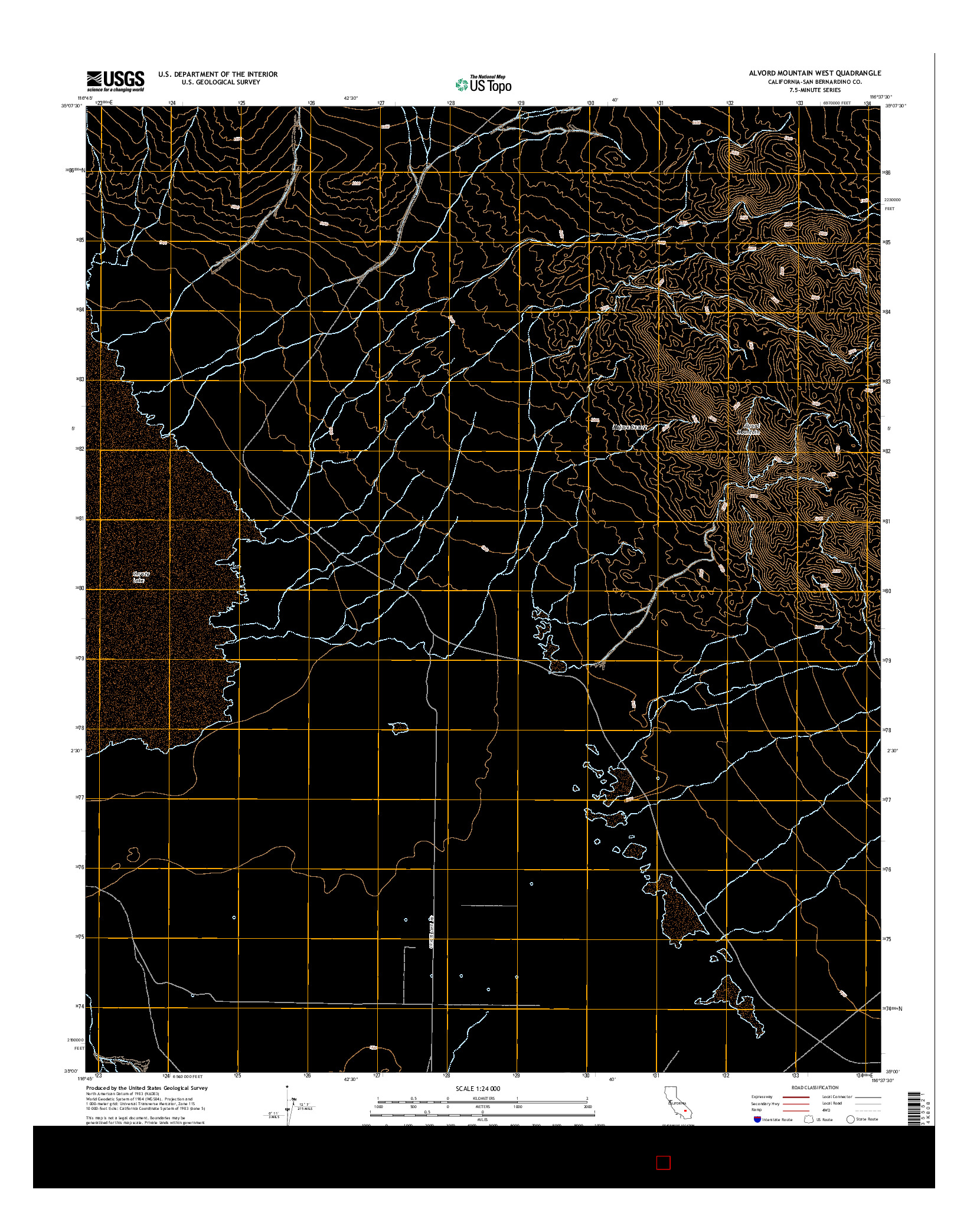 USGS US TOPO 7.5-MINUTE MAP FOR ALVORD MOUNTAIN WEST, CA 2015