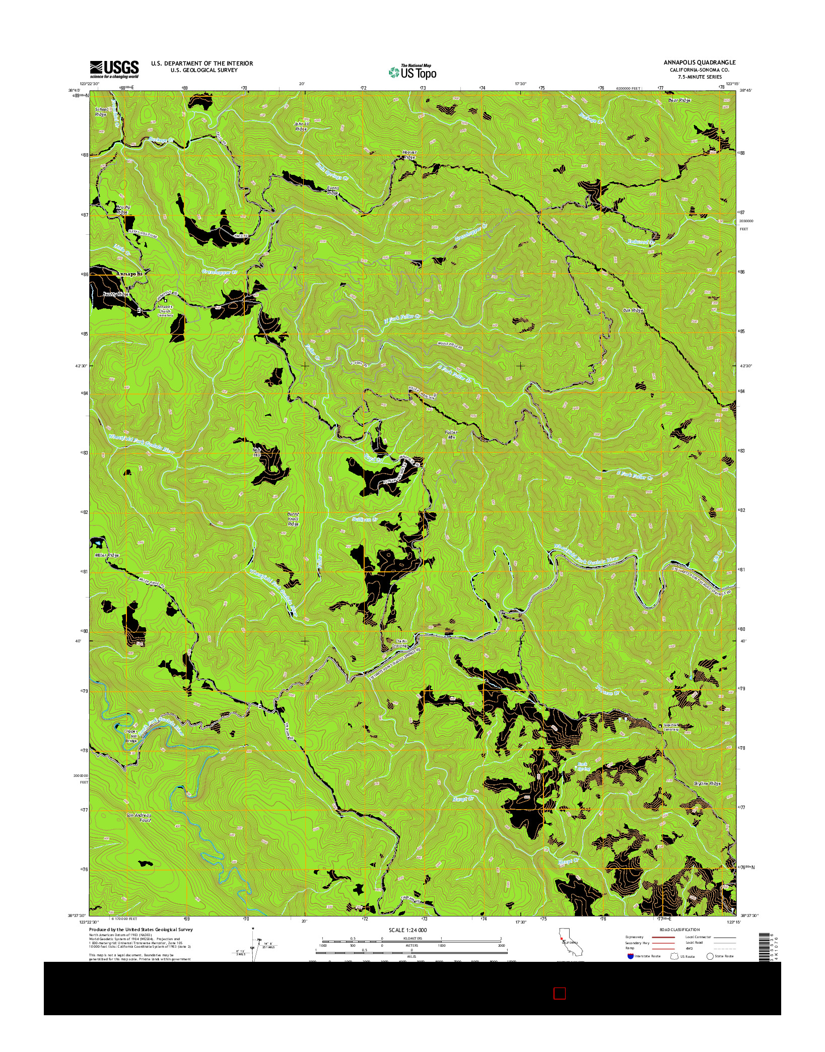 USGS US TOPO 7.5-MINUTE MAP FOR ANNAPOLIS, CA 2015