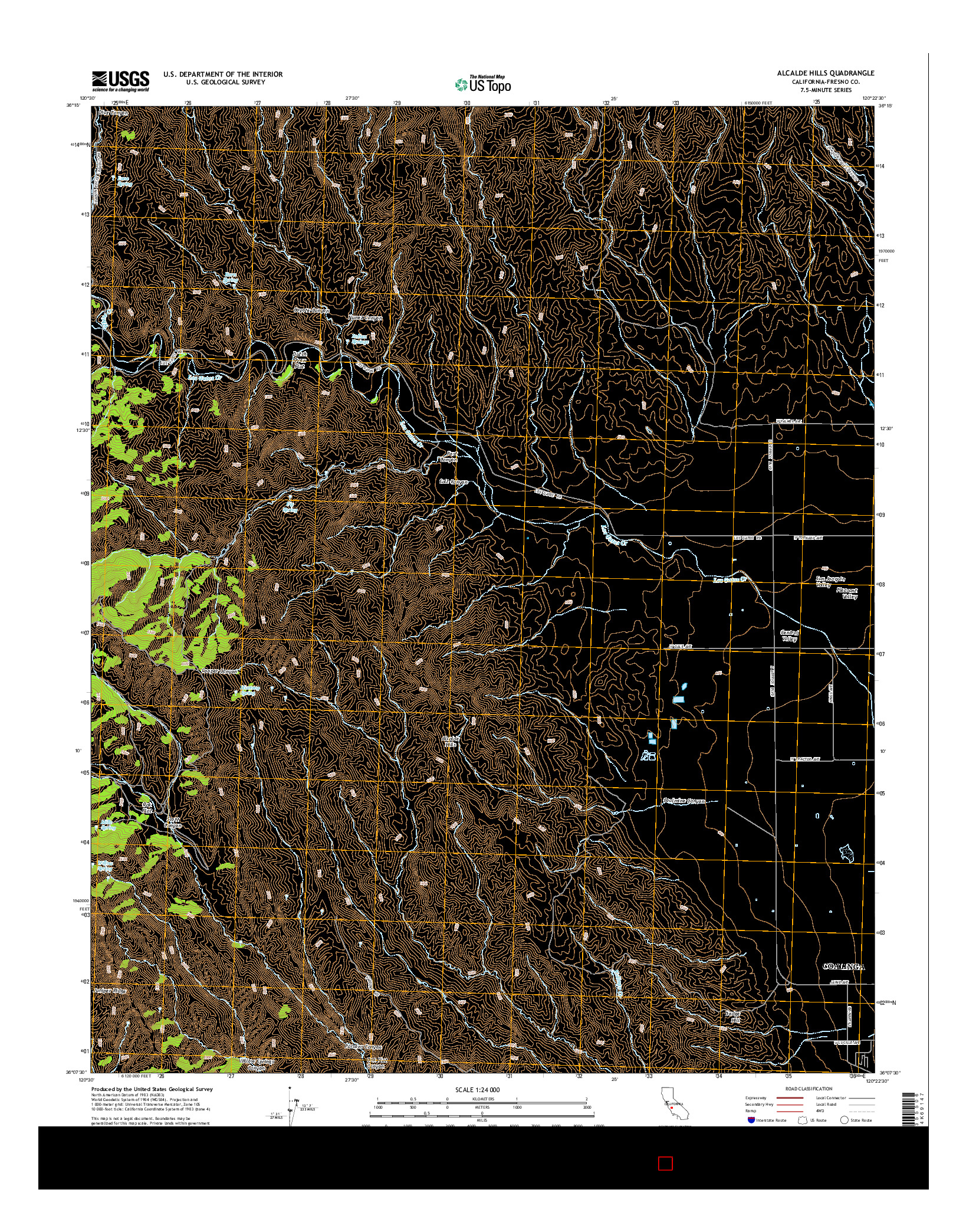 USGS US TOPO 7.5-MINUTE MAP FOR ALCALDE HILLS, CA 2015
