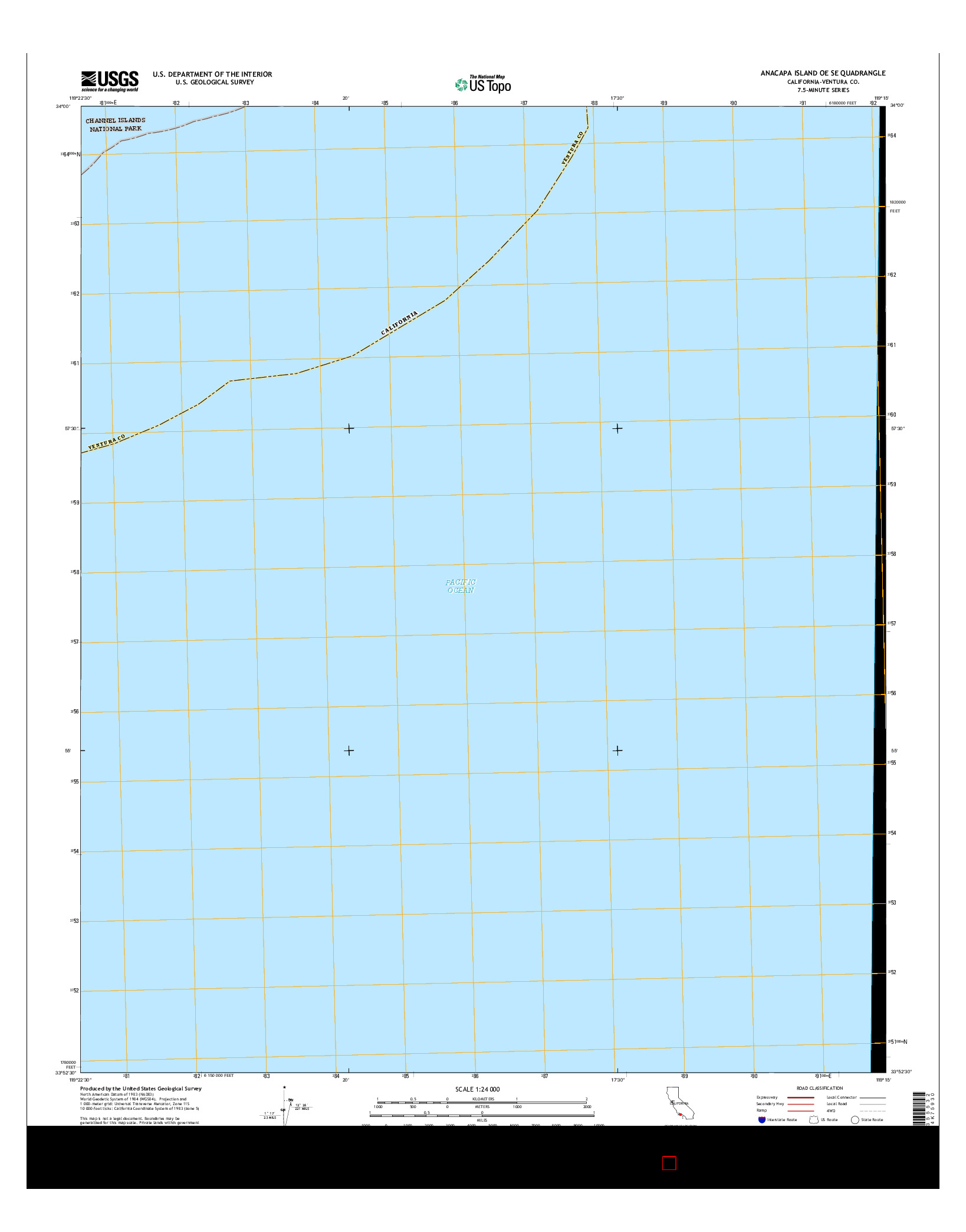 USGS US TOPO 7.5-MINUTE MAP FOR ANACAPA ISLAND OE SE, CA 2015