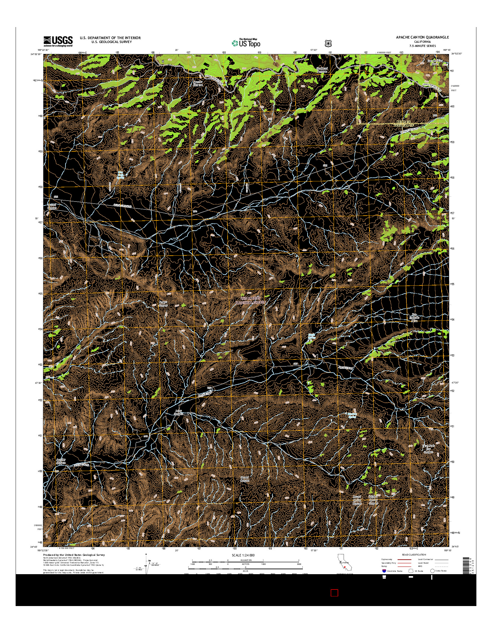 USGS US TOPO 7.5-MINUTE MAP FOR APACHE CANYON, CA 2015