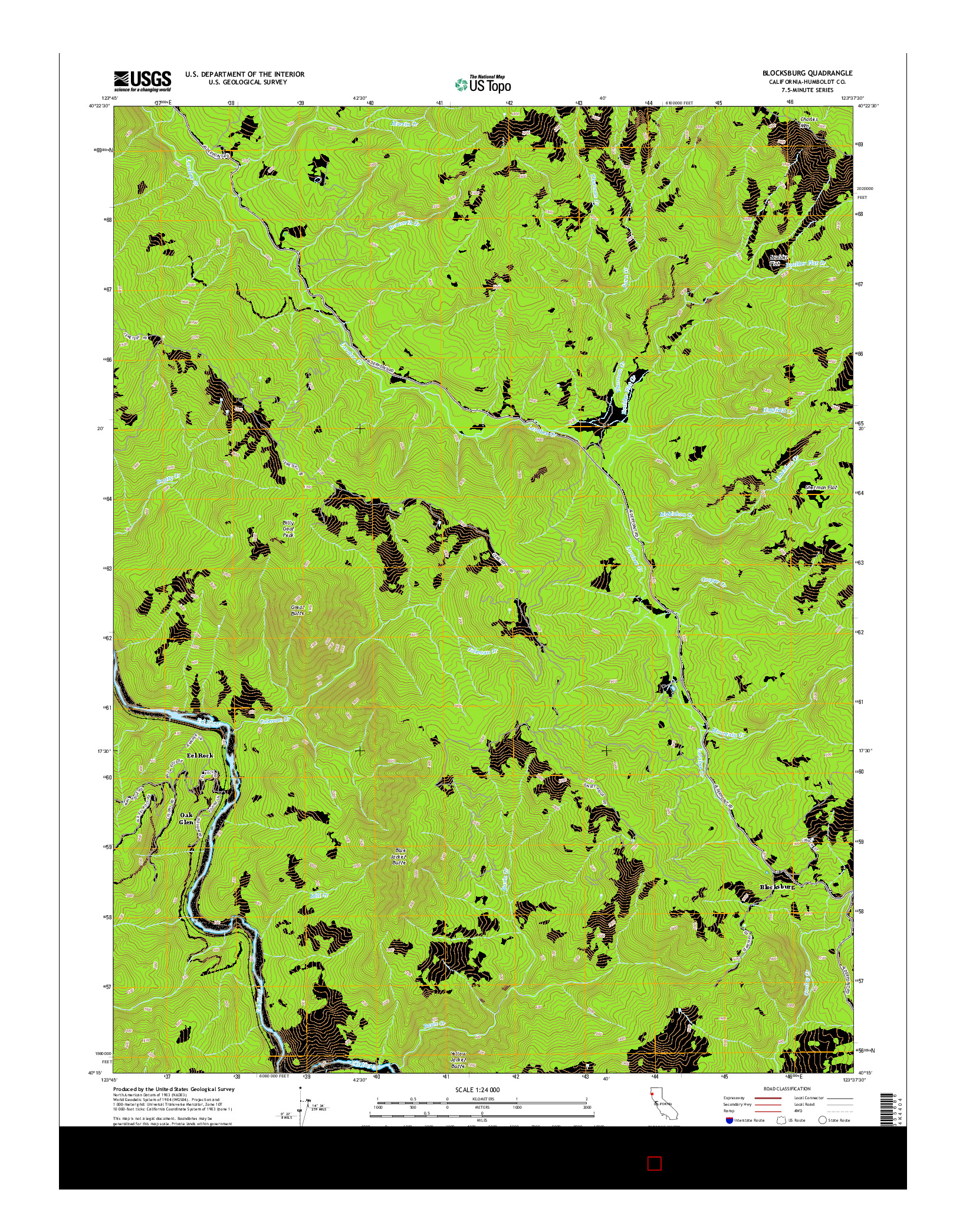 USGS US TOPO 7.5-MINUTE MAP FOR BLOCKSBURG, CA 2015