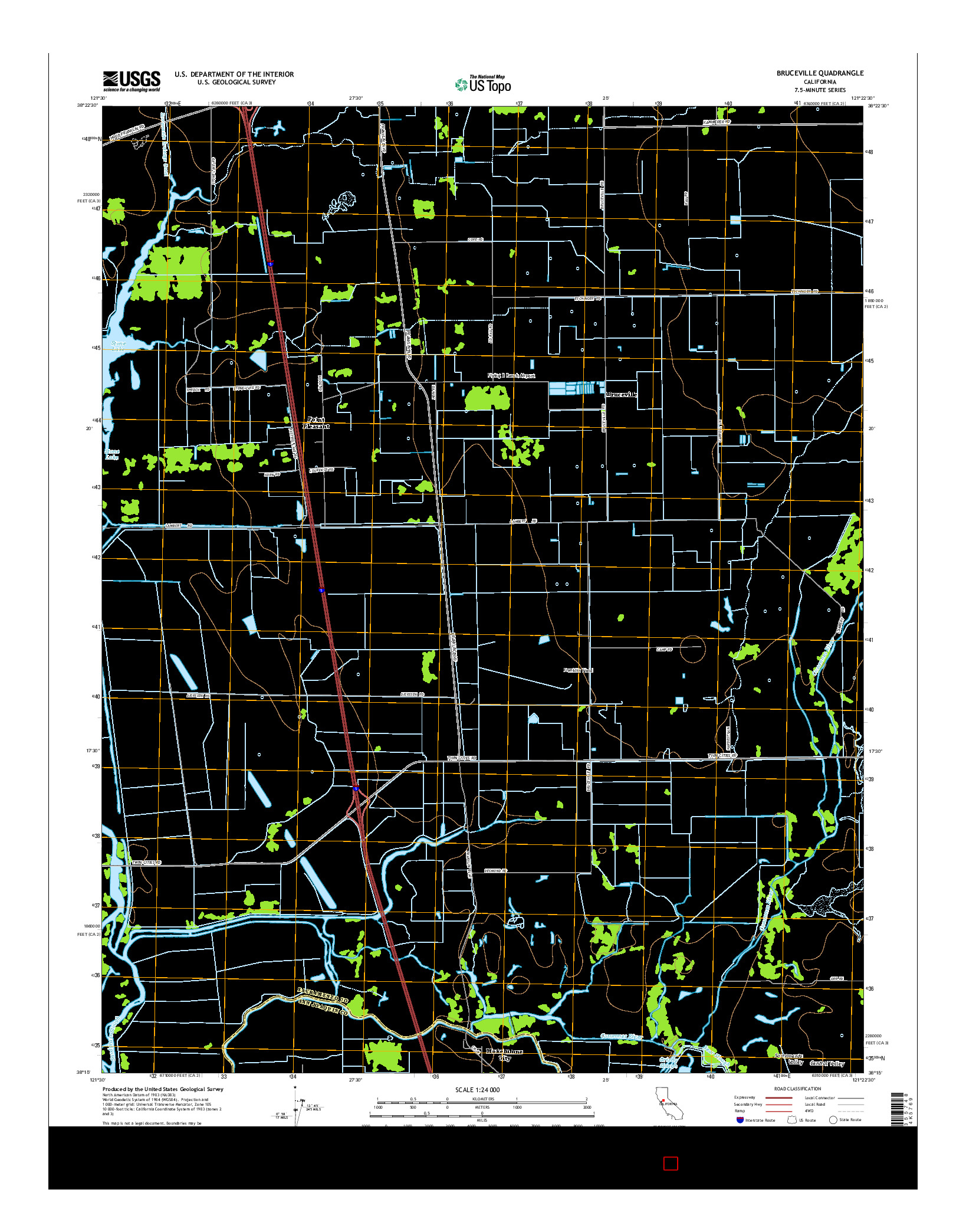USGS US TOPO 7.5-MINUTE MAP FOR BRUCEVILLE, CA 2015