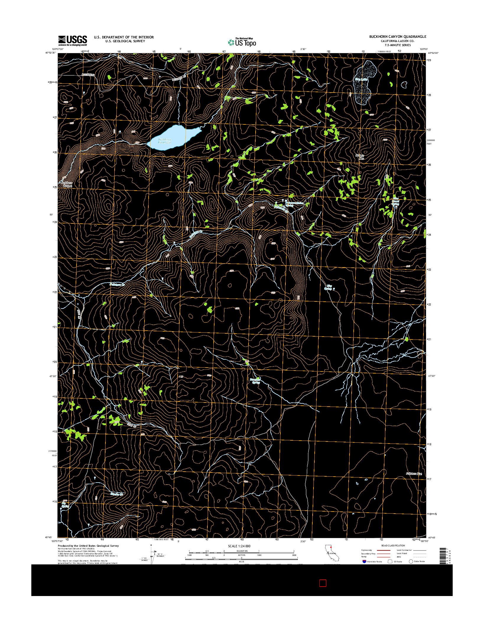 USGS US TOPO 7.5-MINUTE MAP FOR BUCKHORN CANYON, CA 2015