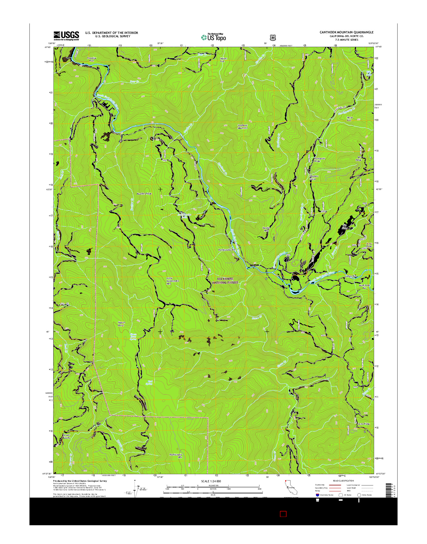 USGS US TOPO 7.5-MINUTE MAP FOR CANTHOOK MOUNTAIN, CA 2015
