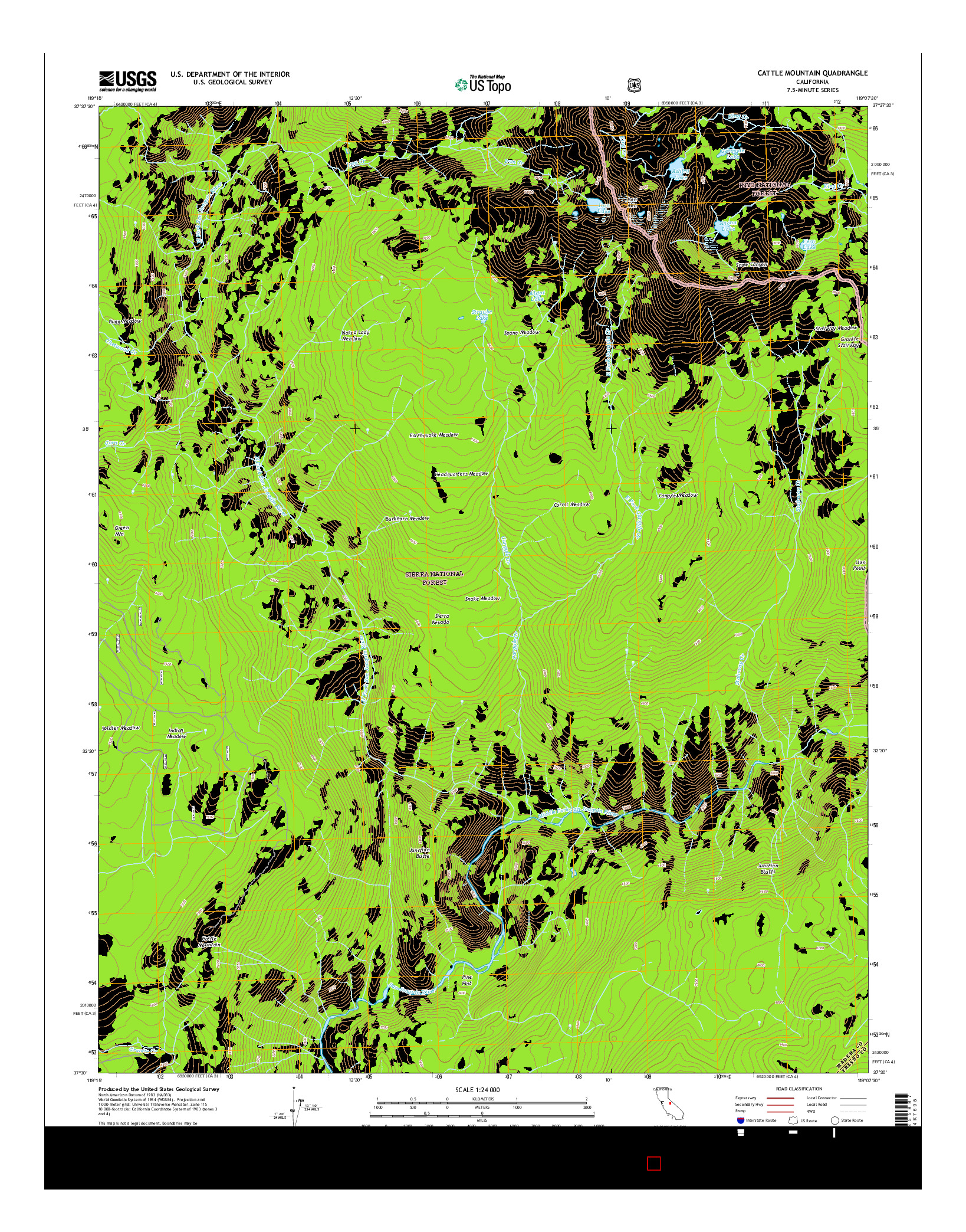 USGS US TOPO 7.5-MINUTE MAP FOR CATTLE MOUNTAIN, CA 2015