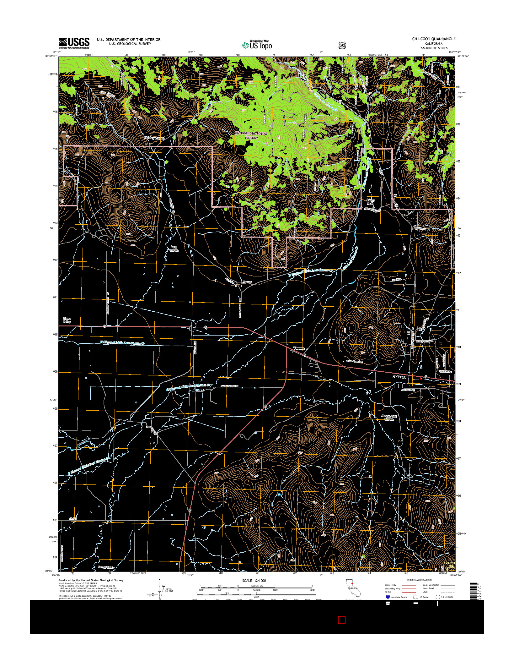 USGS US TOPO 7.5-MINUTE MAP FOR CHILCOOT, CA 2015