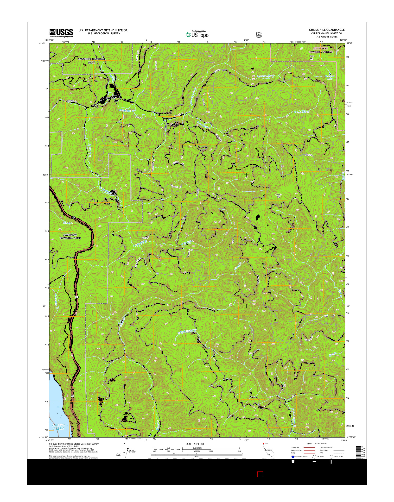 USGS US TOPO 7.5-MINUTE MAP FOR CHILDS HILL, CA 2015