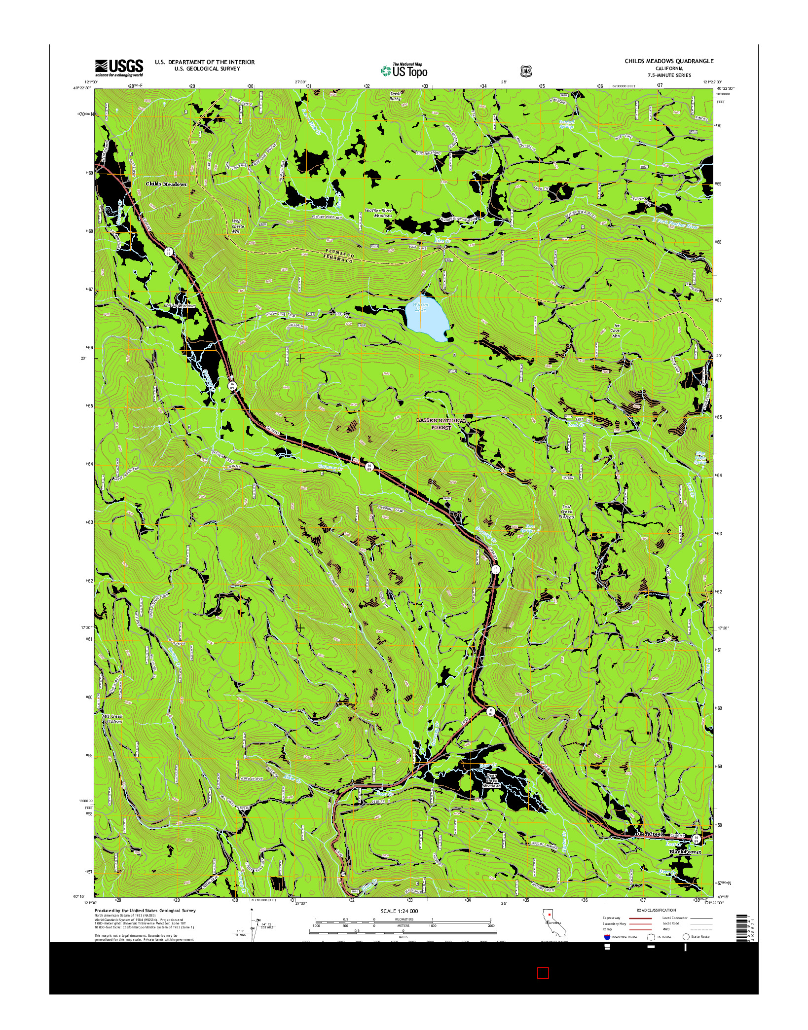 USGS US TOPO 7.5-MINUTE MAP FOR CHILDS MEADOWS, CA 2015