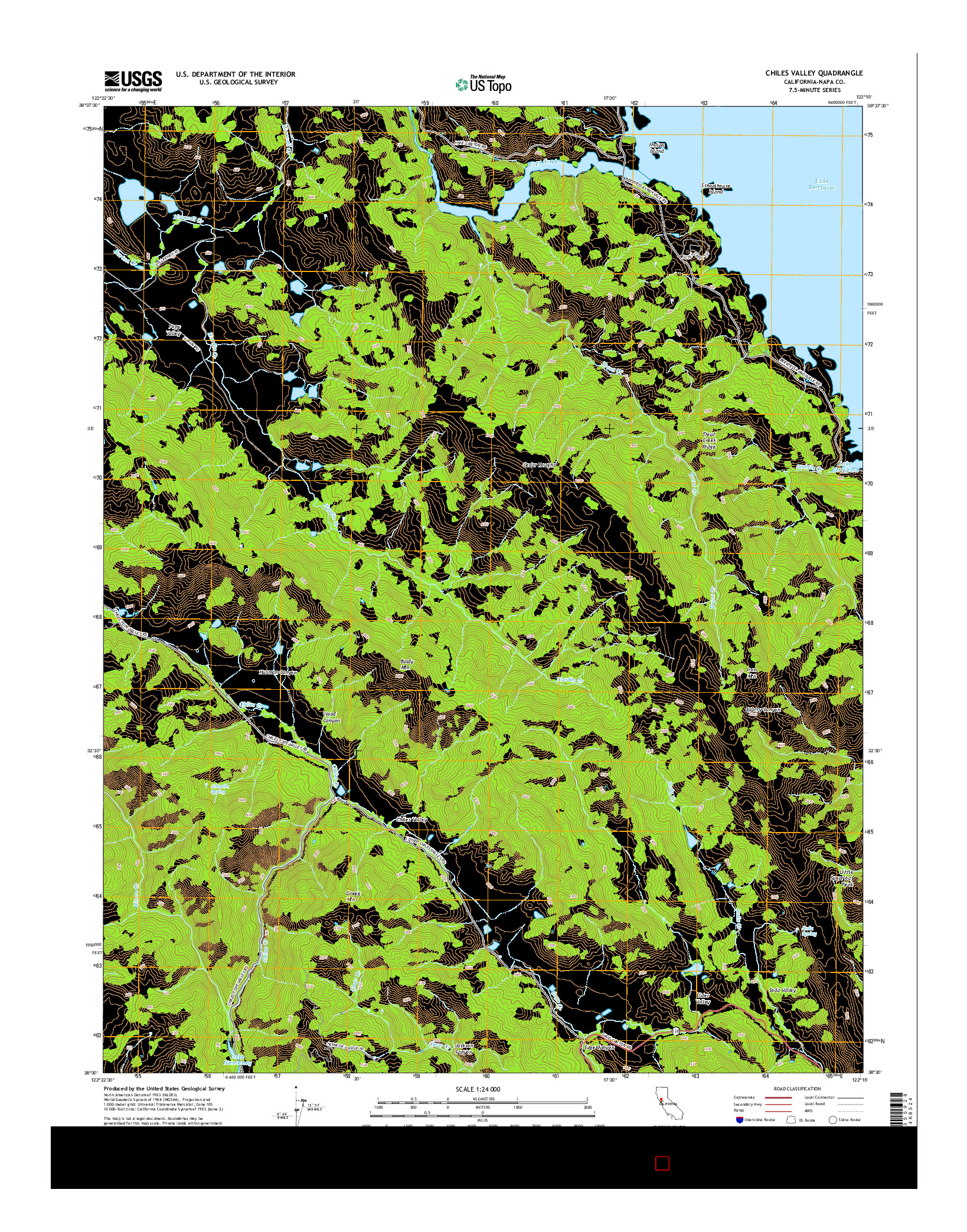 USGS US TOPO 7.5-MINUTE MAP FOR CHILES VALLEY, CA 2015