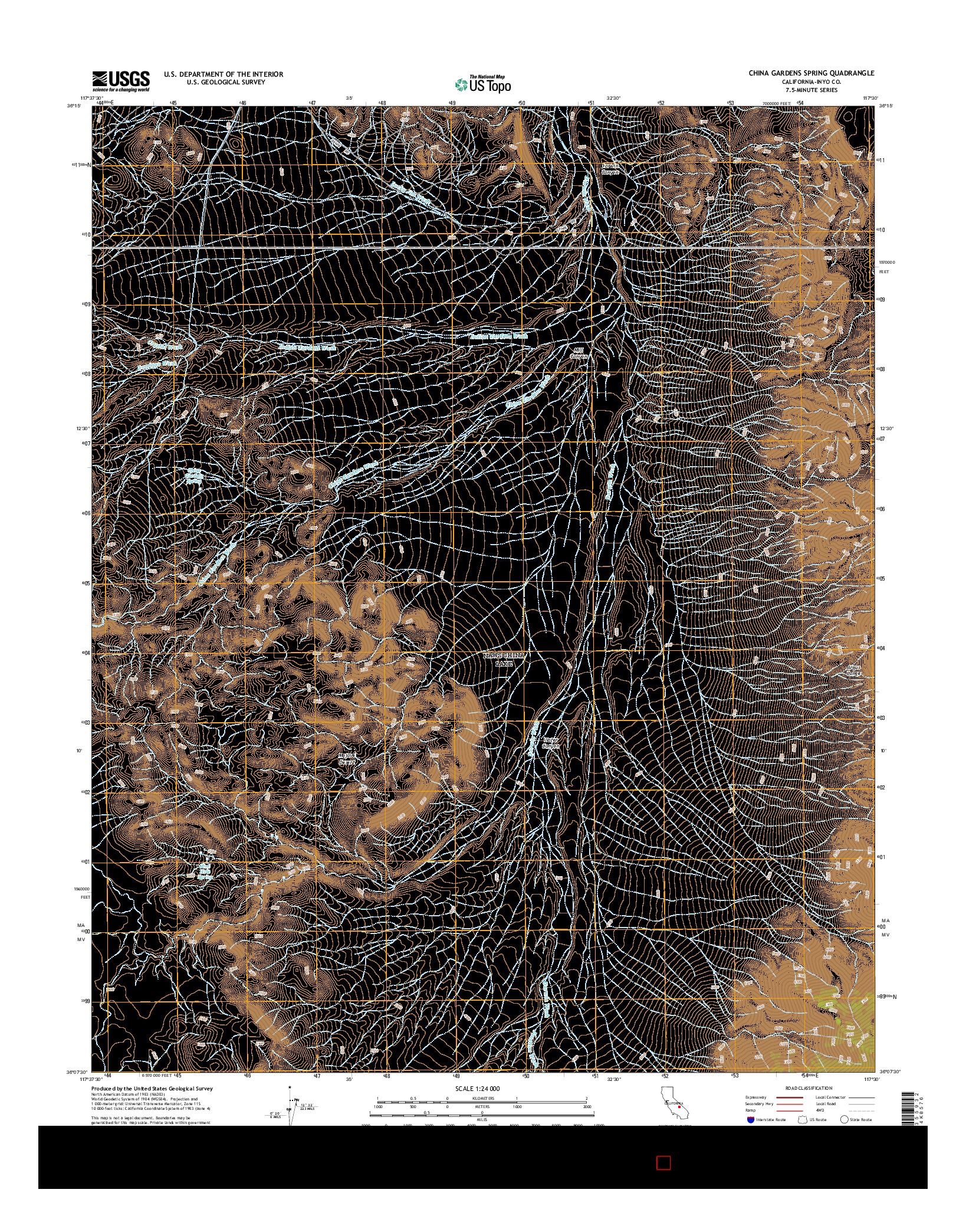 USGS US TOPO 7.5-MINUTE MAP FOR CHINA GARDENS SPRING, CA 2015