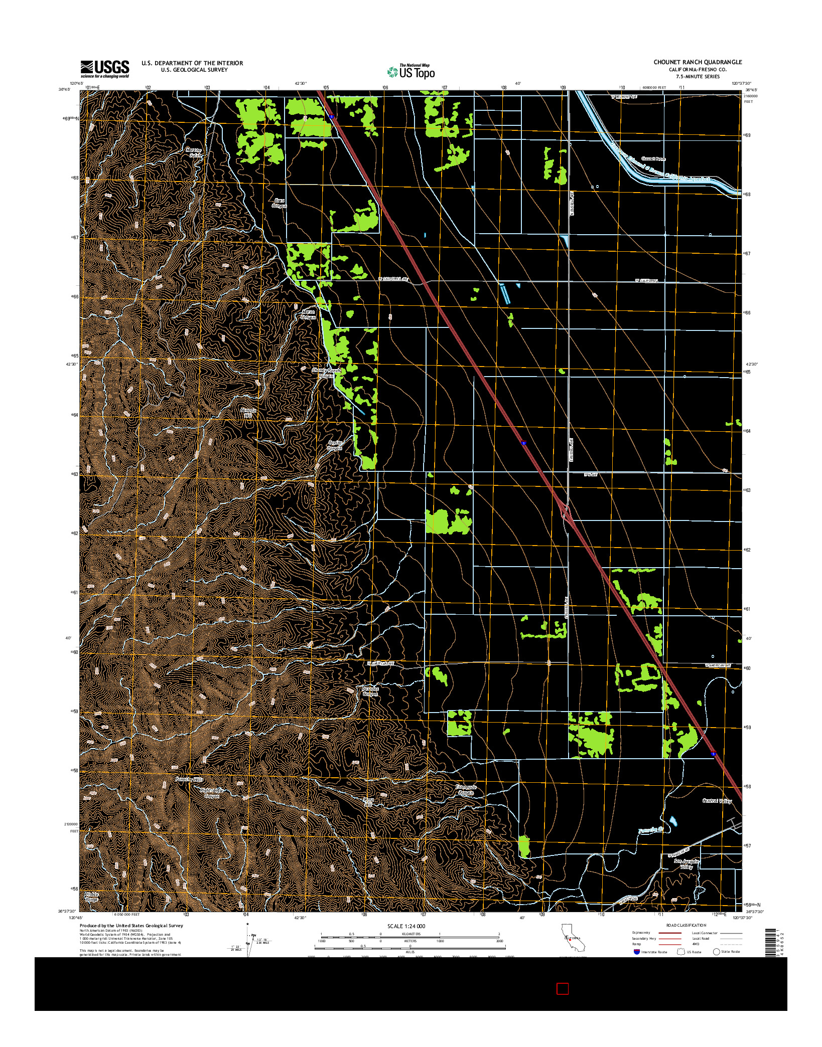 USGS US TOPO 7.5-MINUTE MAP FOR CHOUNET RANCH, CA 2015