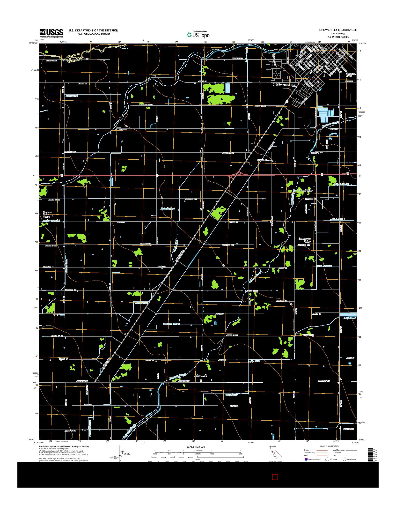 USGS US TOPO 7.5-MINUTE MAP FOR CHOWCHILLA, CA 2015