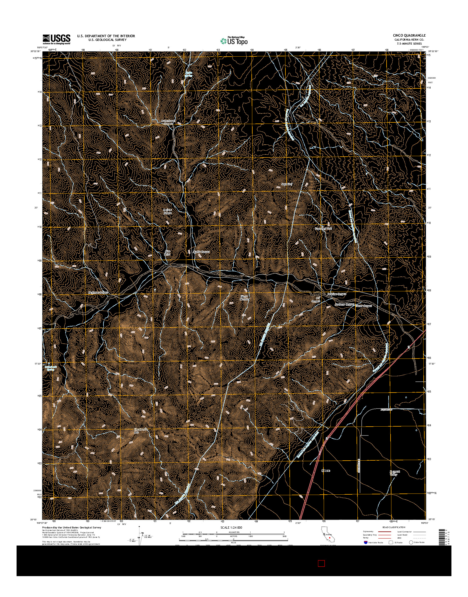 USGS US TOPO 7.5-MINUTE MAP FOR CINCO, CA 2015