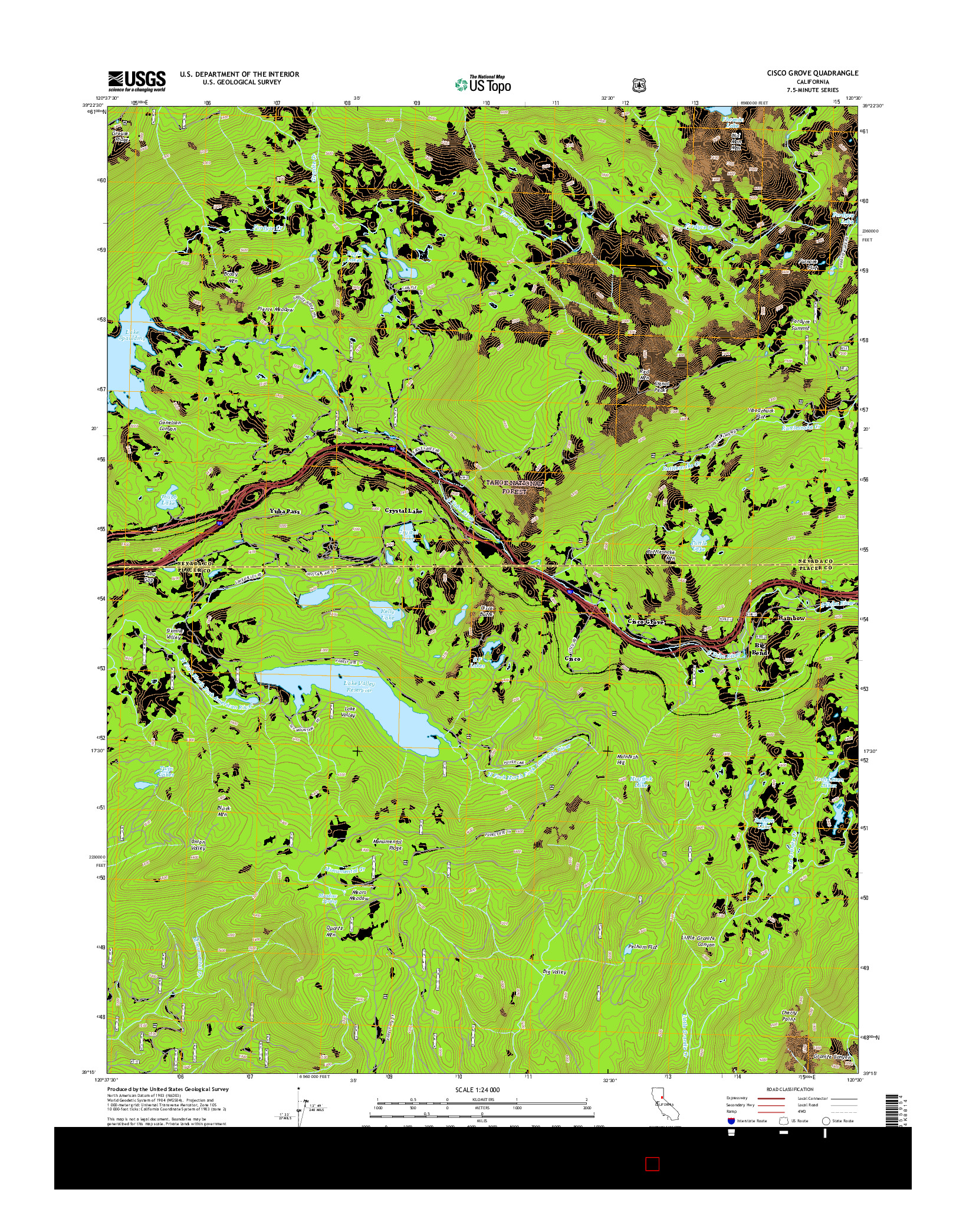 USGS US TOPO 7.5-MINUTE MAP FOR CISCO GROVE, CA 2015